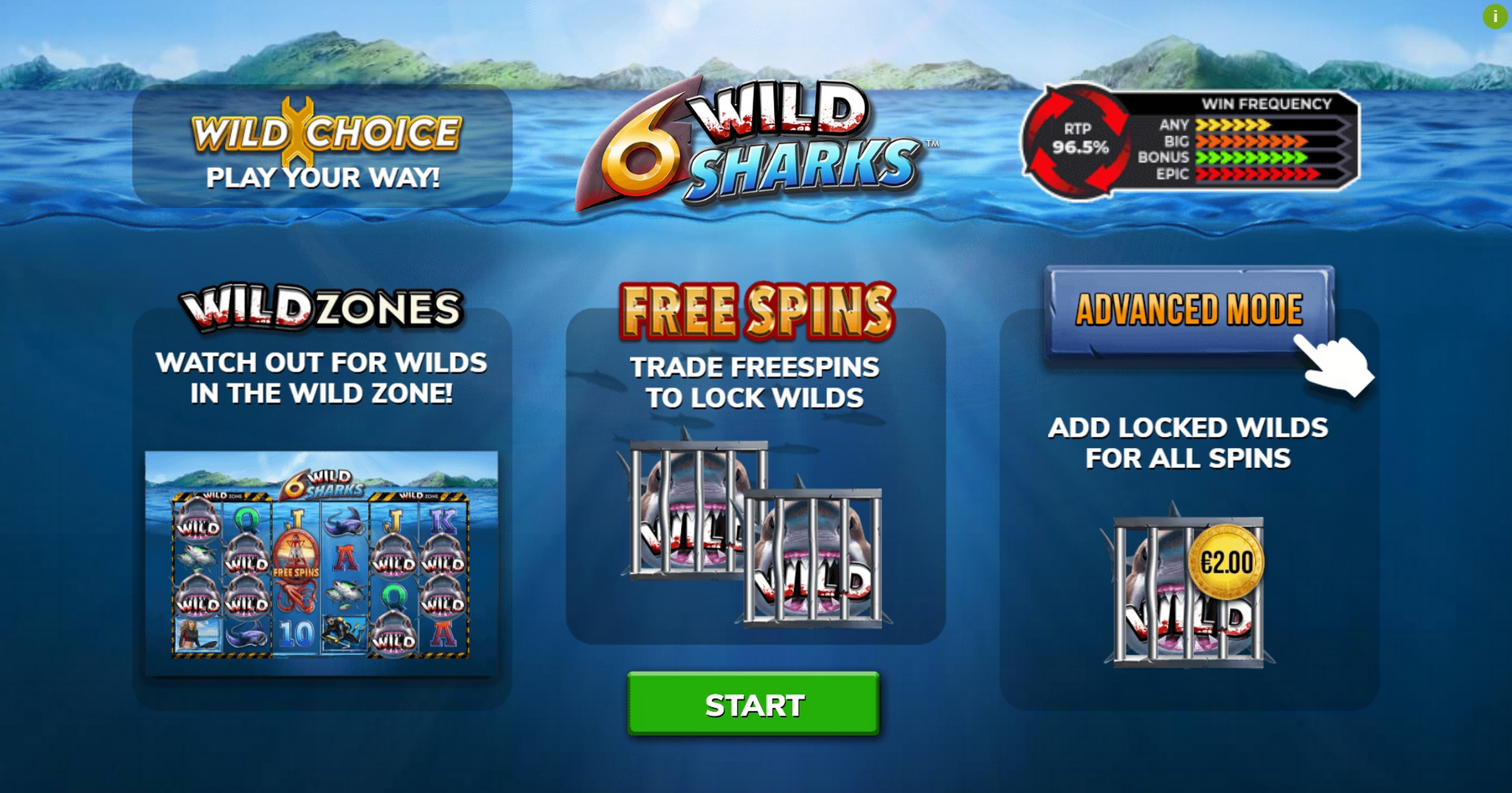 Play 6 Wild Sharks Free Casino Slot Game by 4ThePlayer