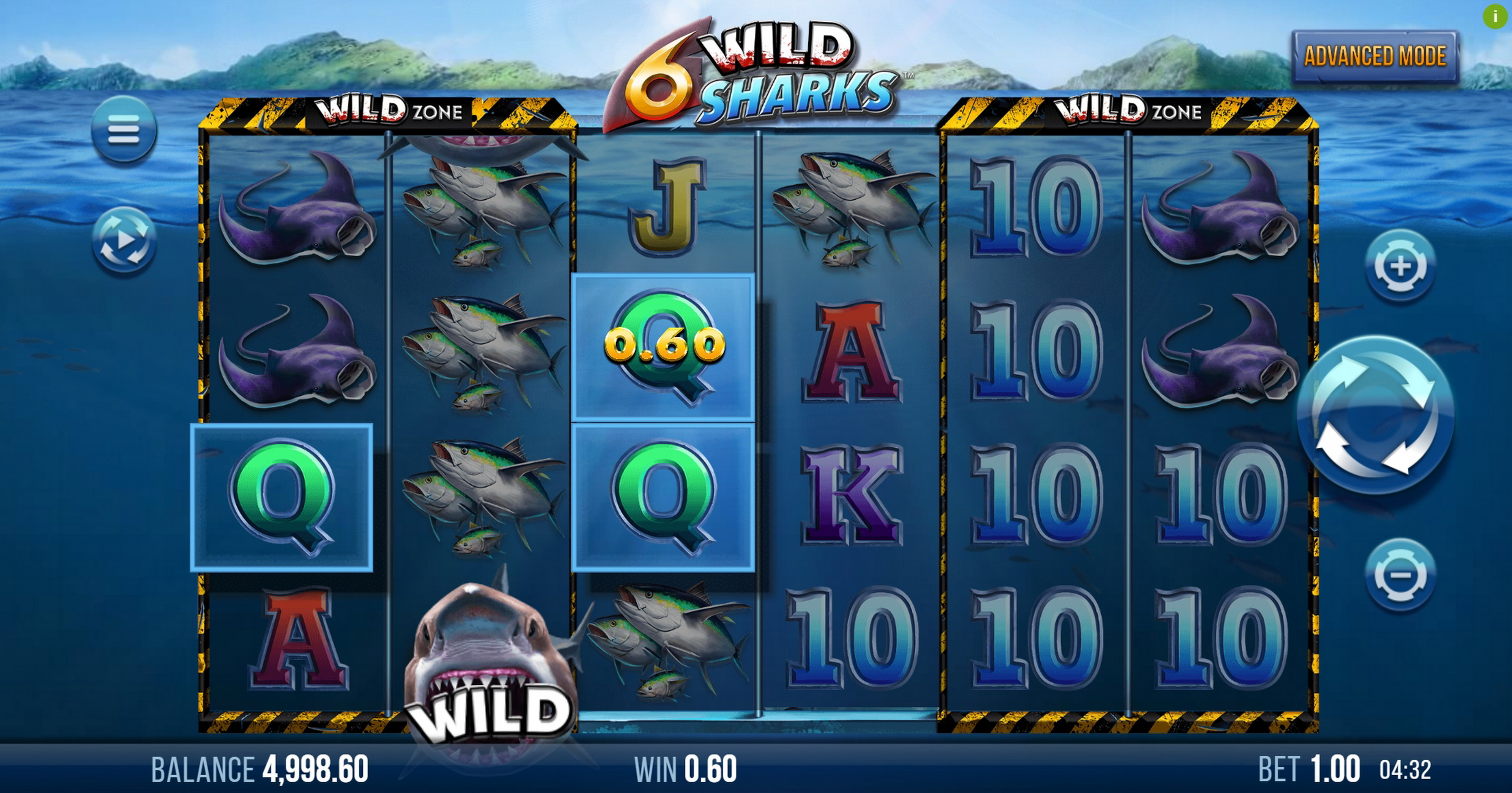 Win Money in 6 Wild Sharks Free Slot Game by 4ThePlayer