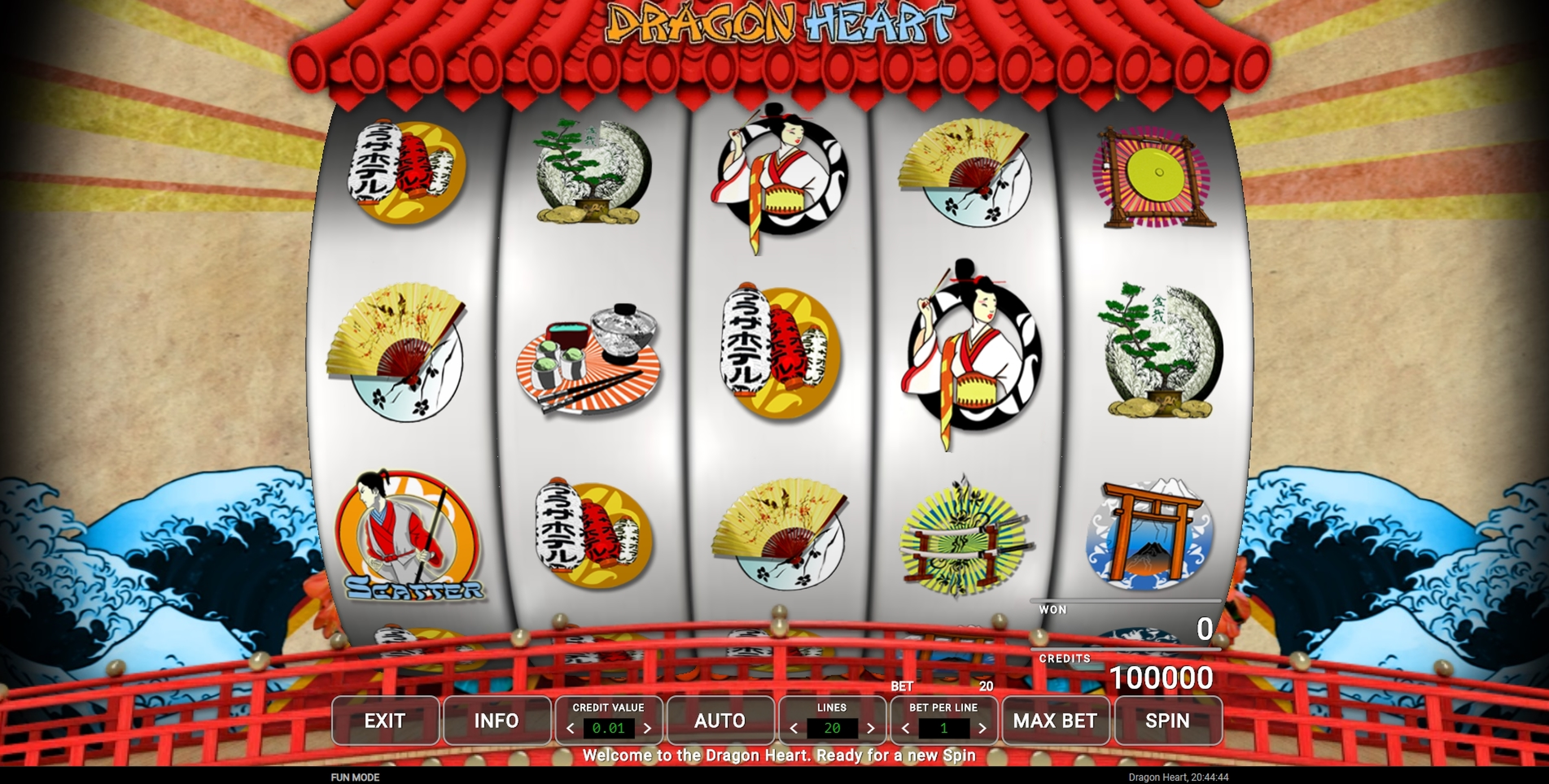 Reels in Dragon Heart Slot Game by CQ9Gaming