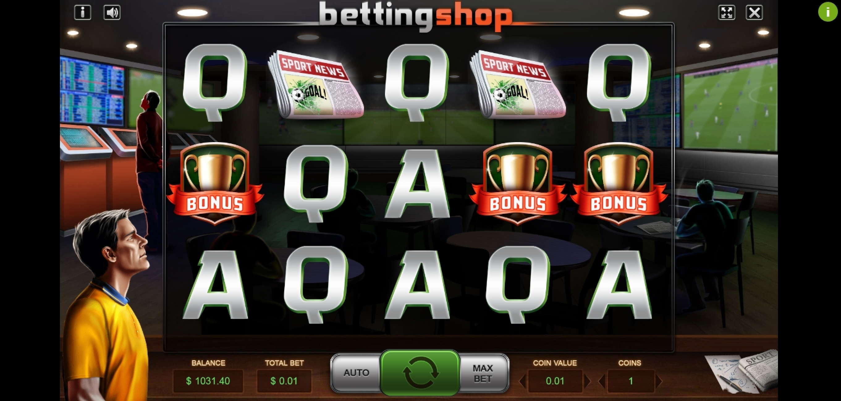 Reels in Betting Shop Slot Game by Charismatic