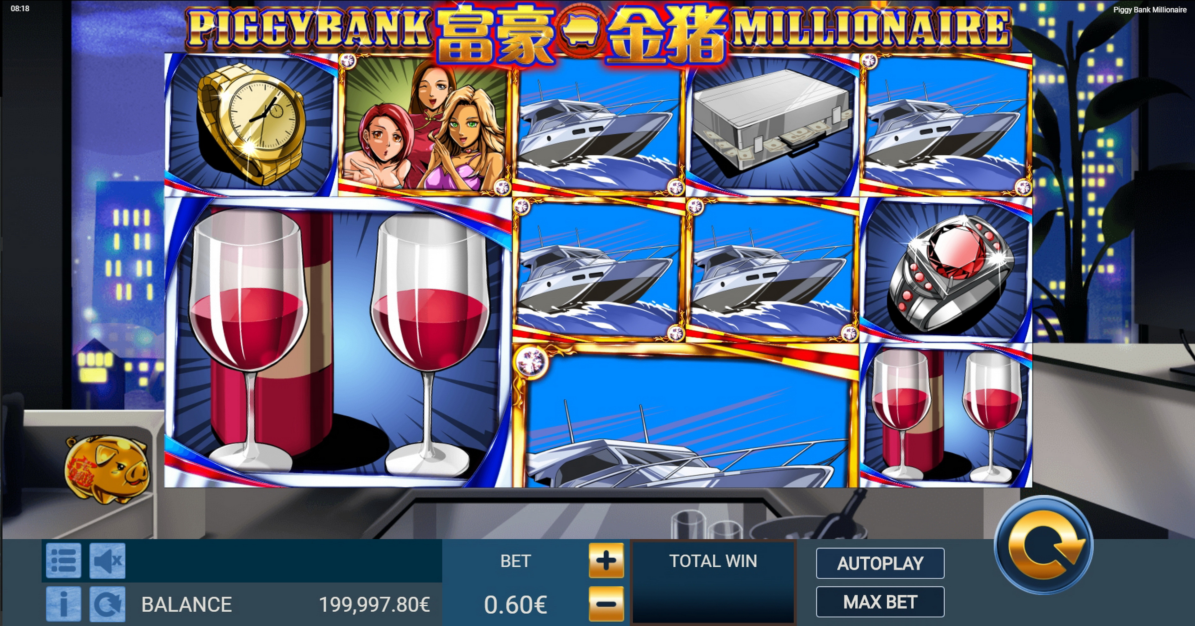 Reels in Piggy Bank Millionaire Slot Game by Gamatron