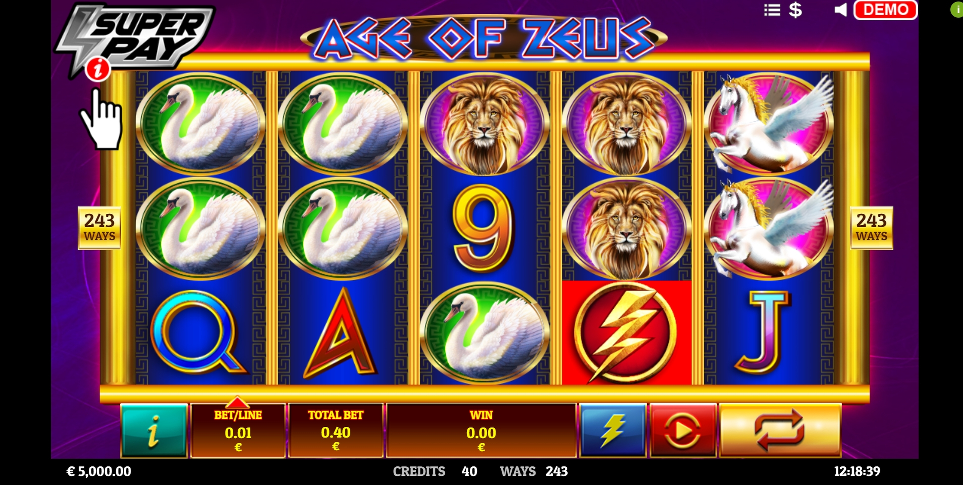 Reels in Age of Zeus Slot Game by Givme Games