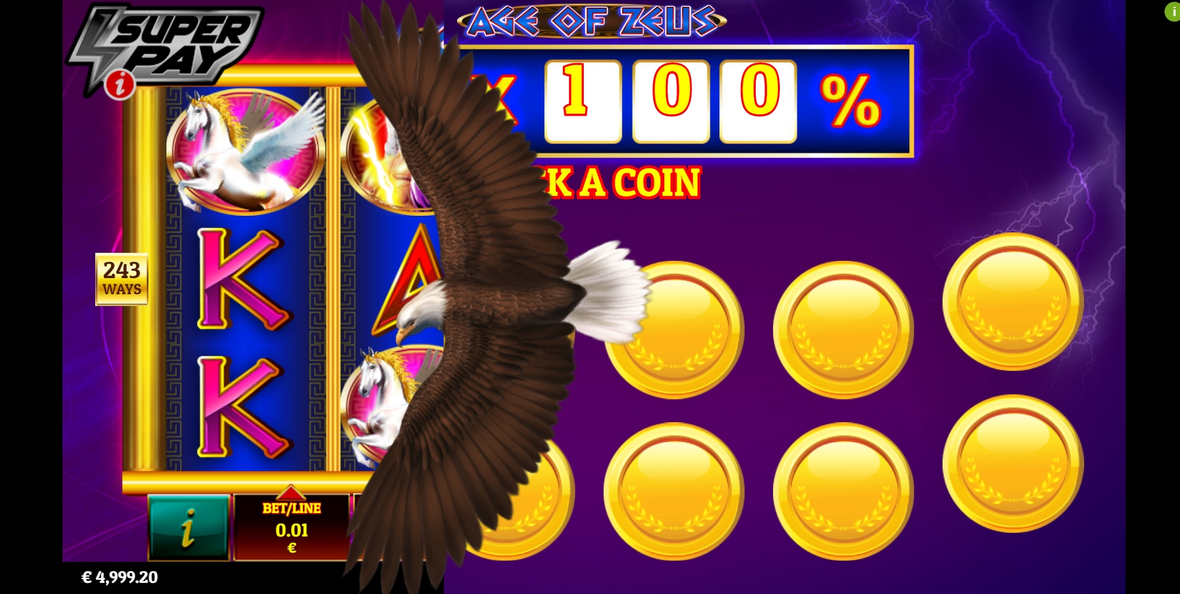 Win Money in Age of Zeus Free Slot Game by Givme Games