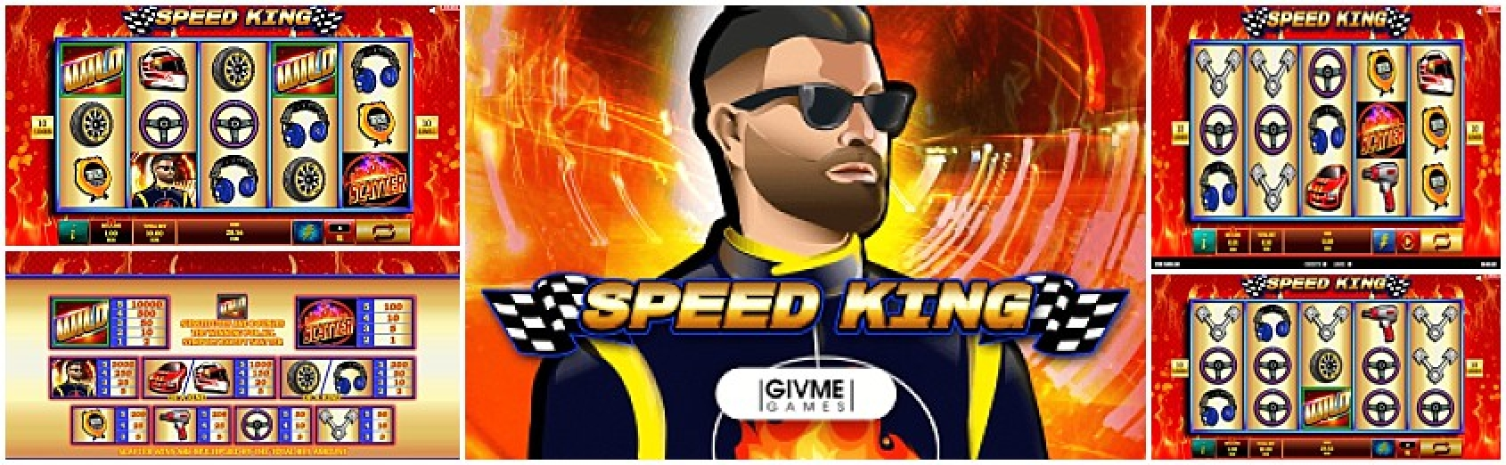The Speed King Online Slot Demo Game by Givme Games