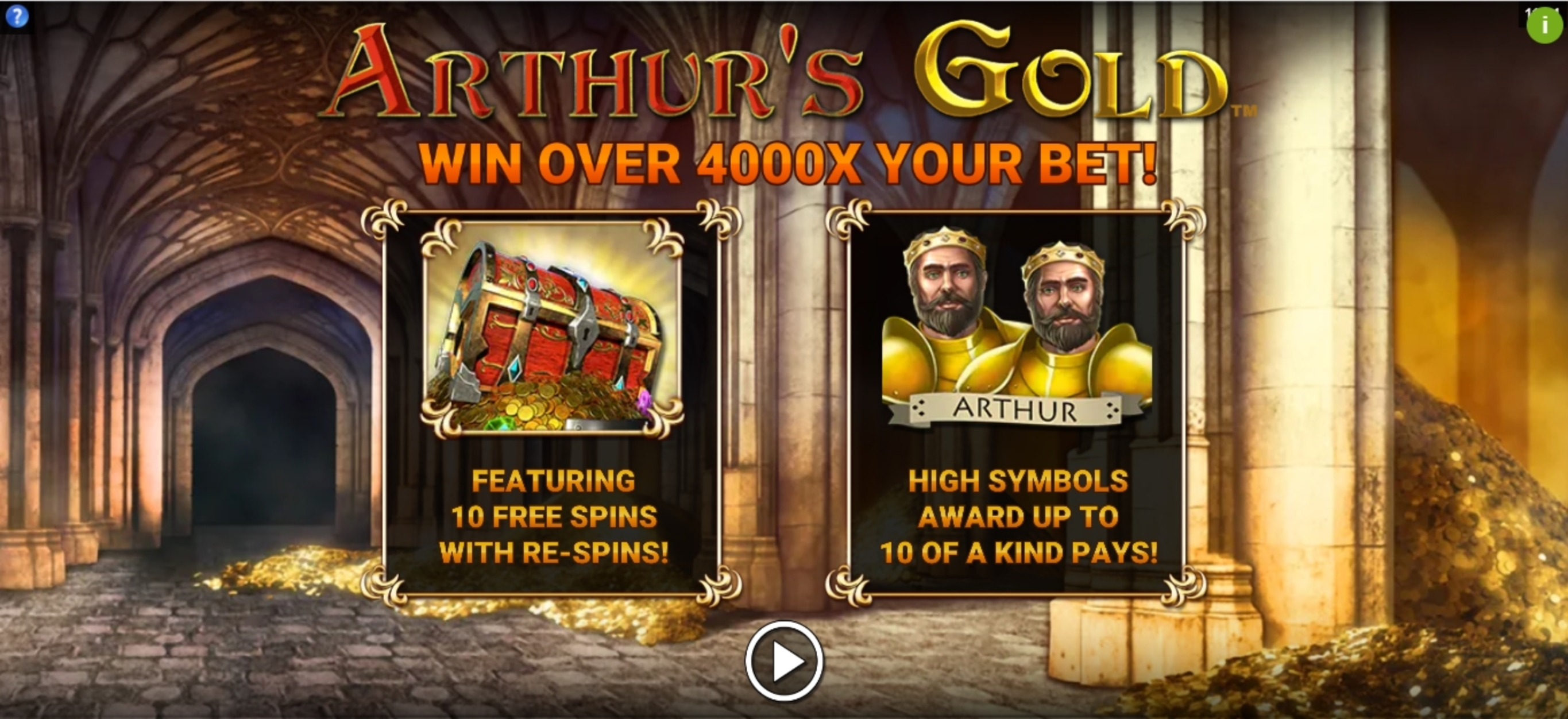 Play Arthurs Gold Free Casino Slot Game by Gold Coin Studios