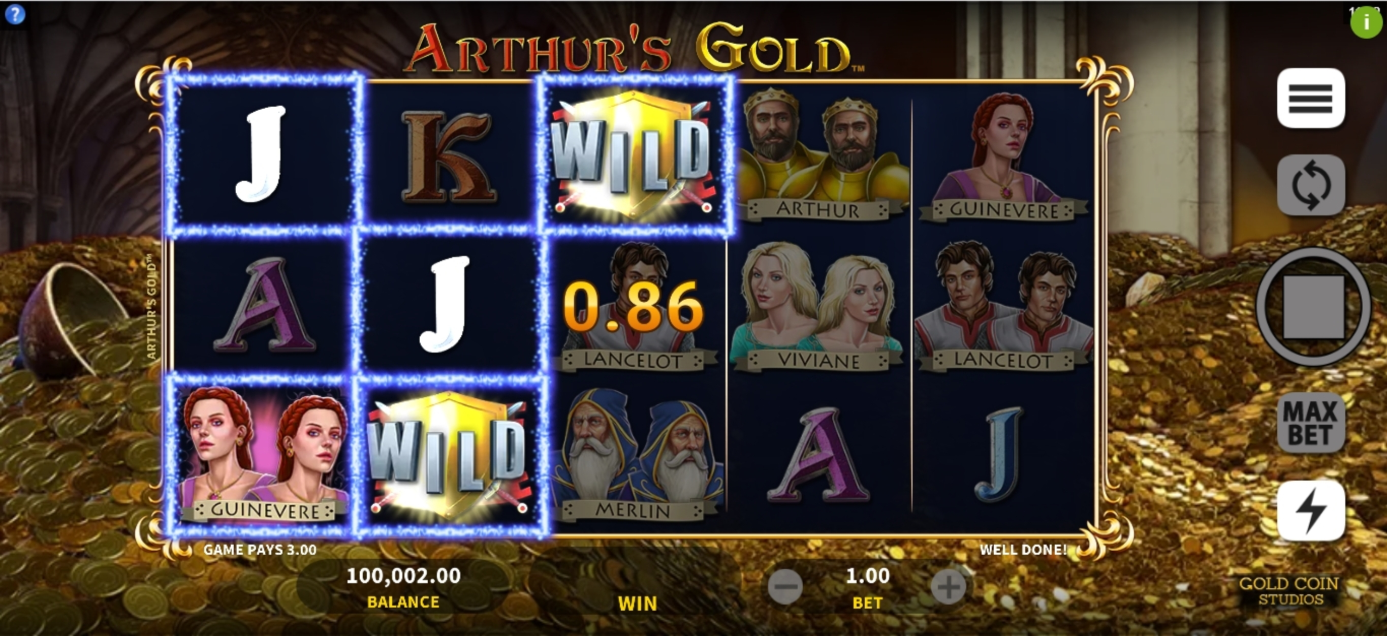 Win Money in Arthurs Gold Free Slot Game by Gold Coin Studios