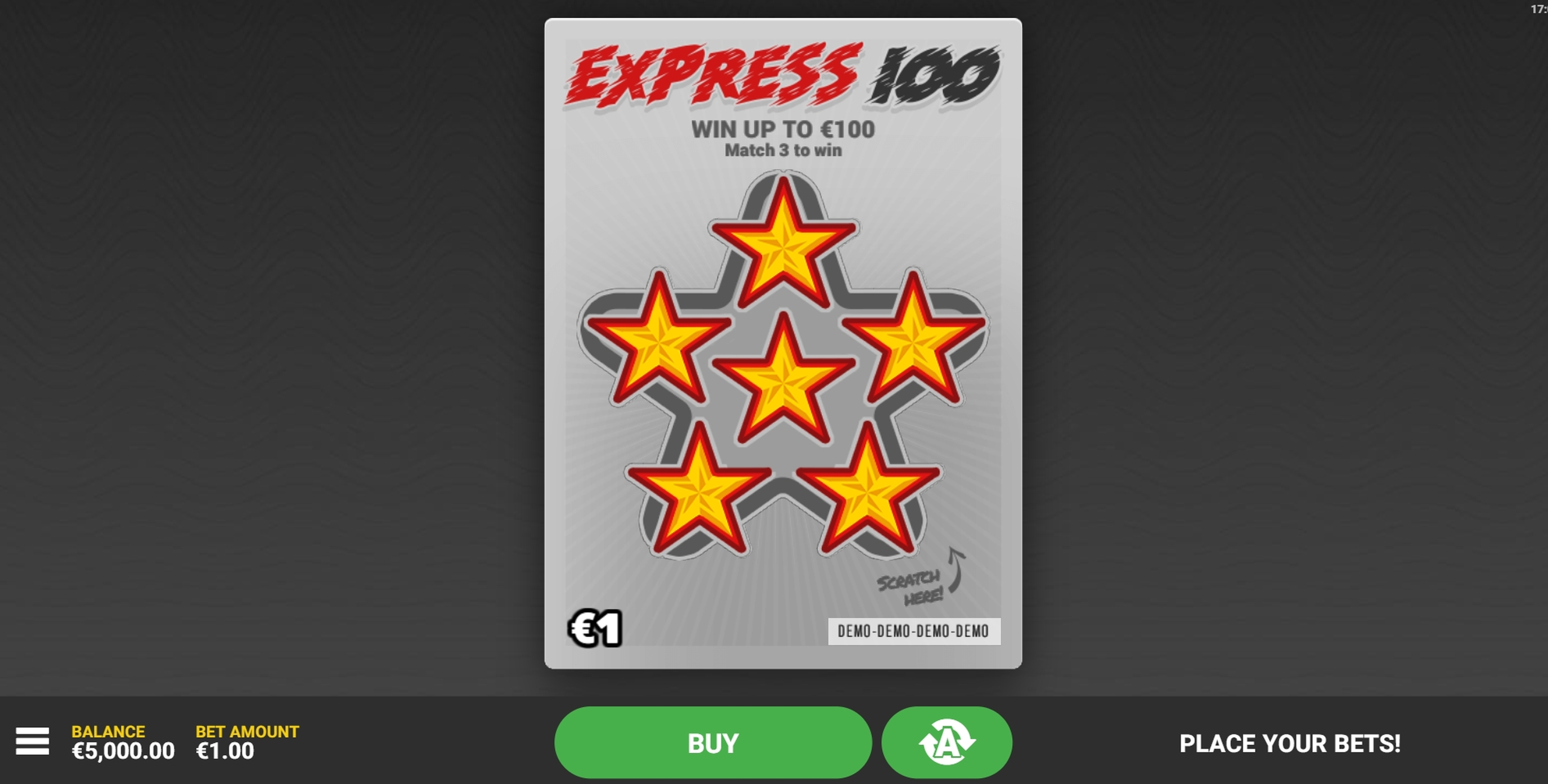 Reels in Express 100 Slot Game by Hacksaw Gaming