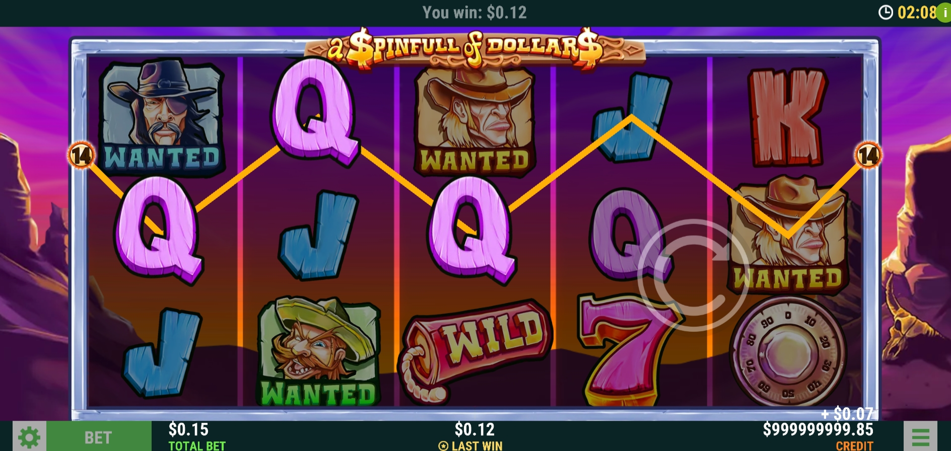 Win Money in A Spinfull of Dollars Free Slot Game by Slot Factory