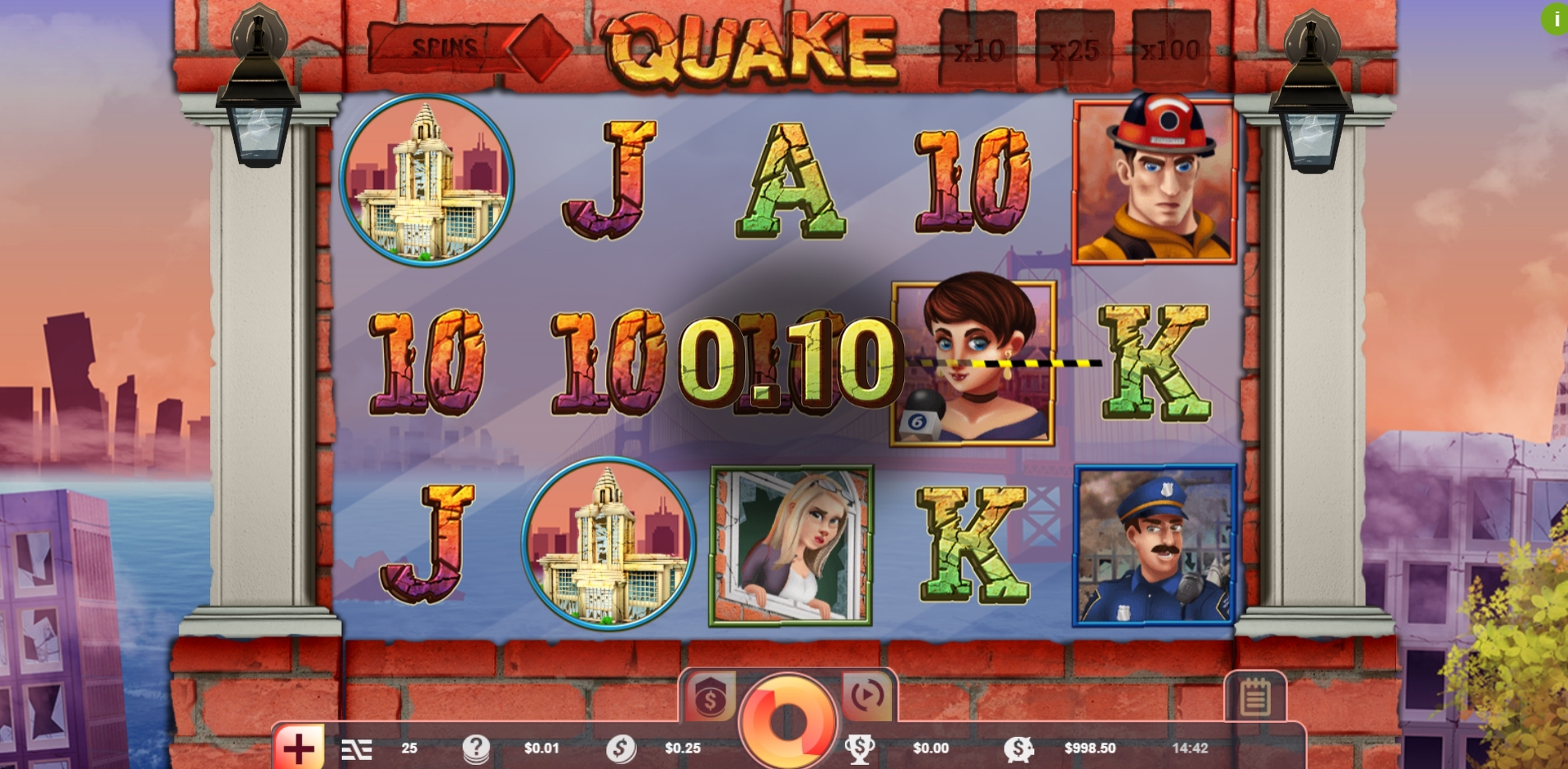 Win Money in Quake Free Slot Game by Vibra Gaming