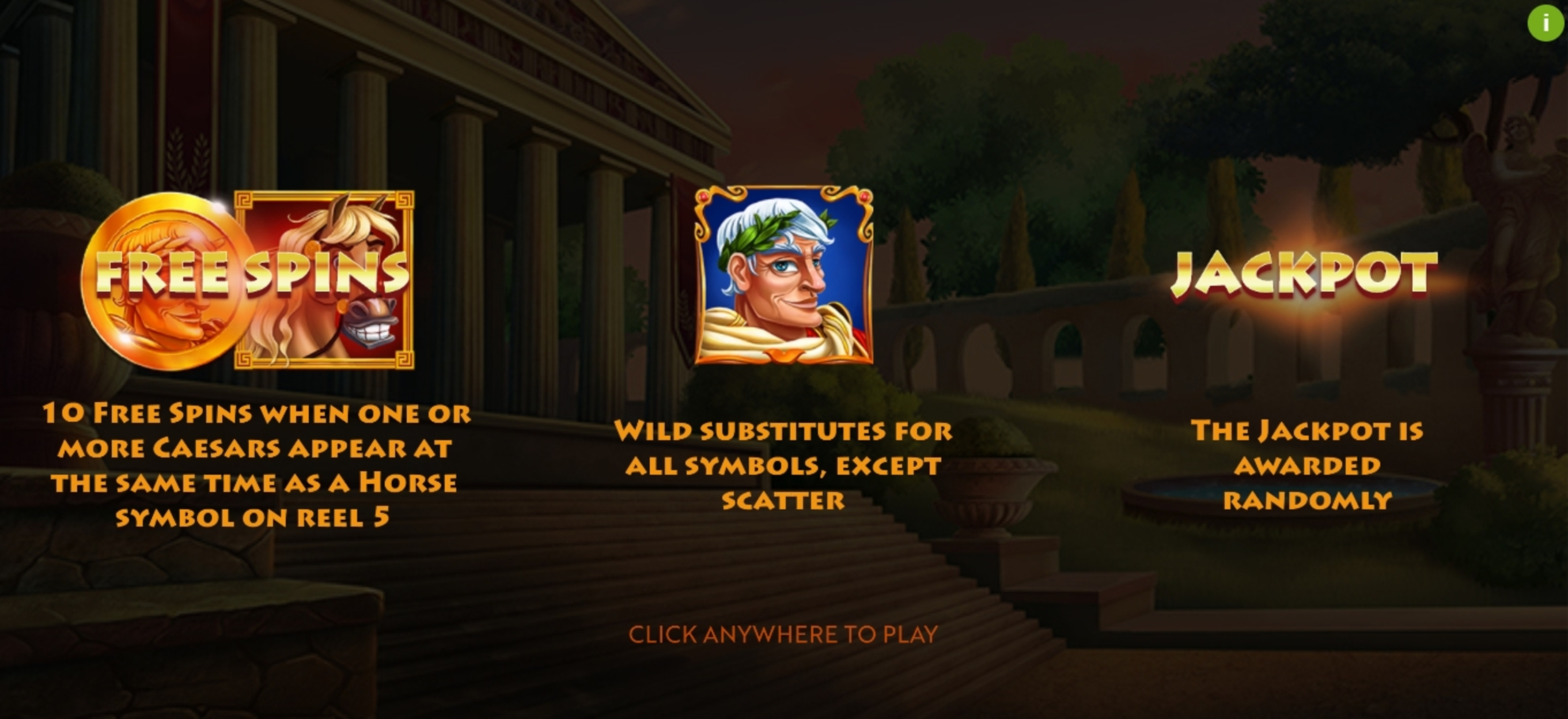 Play Caesar's Conquest Free Casino Slot Game by Woohoo