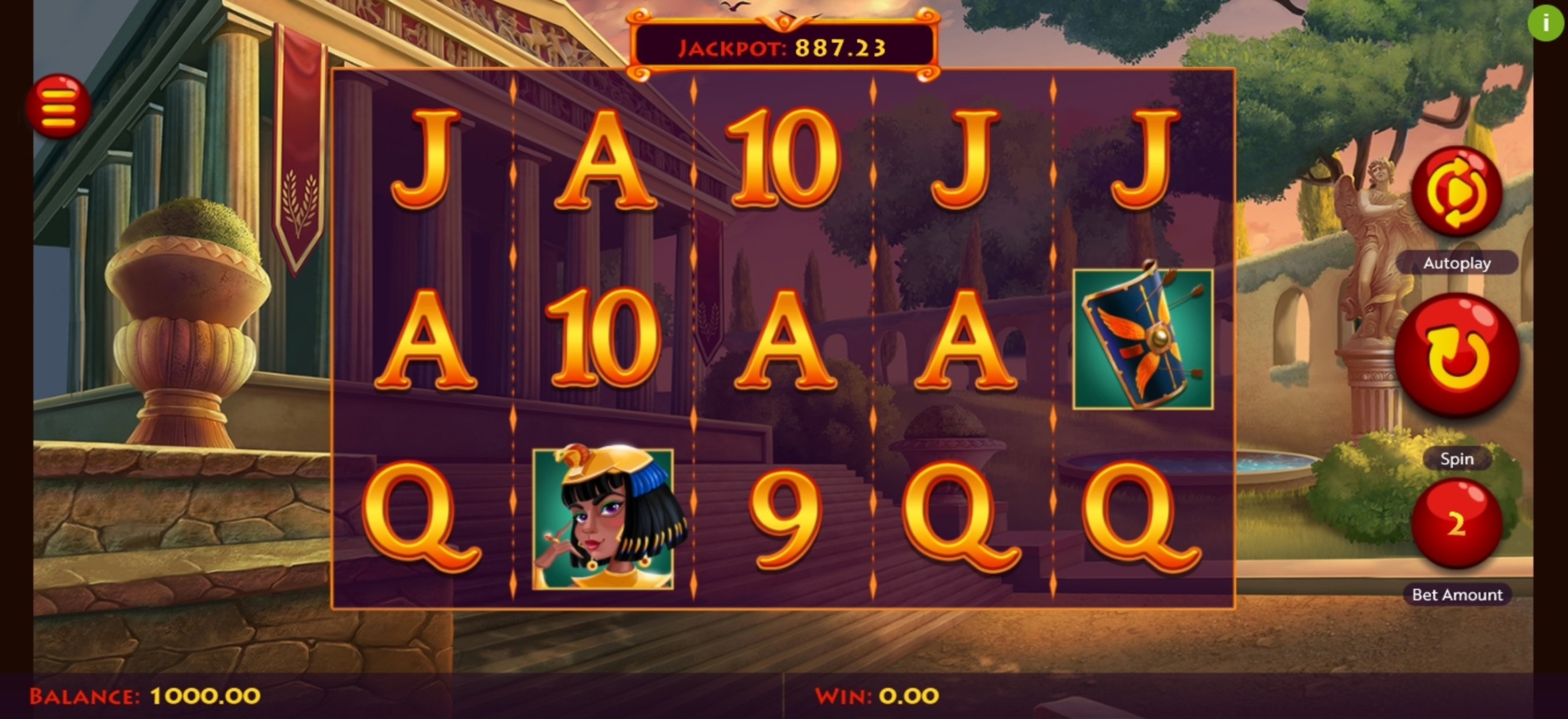 Reels in Caesar's Conquest Slot Game by Woohoo