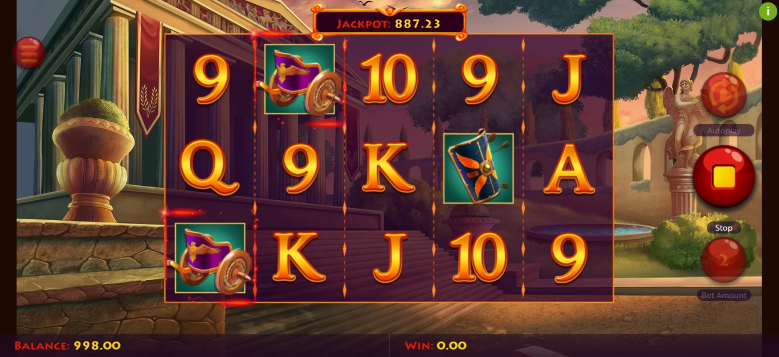Win Money in Caesar's Conquest Free Slot Game by Woohoo