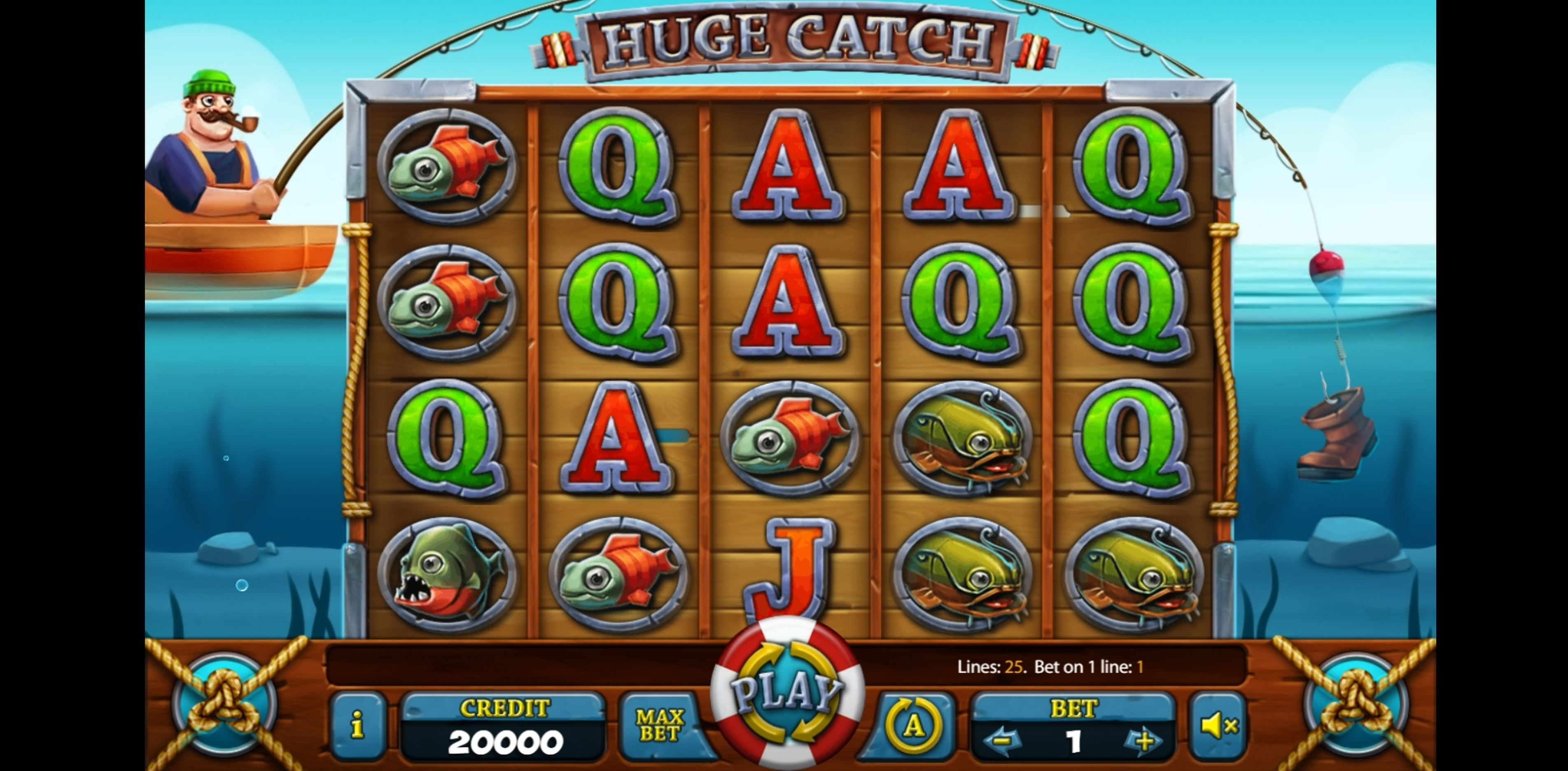 Reels in Huge Catch Slot Game by X Card