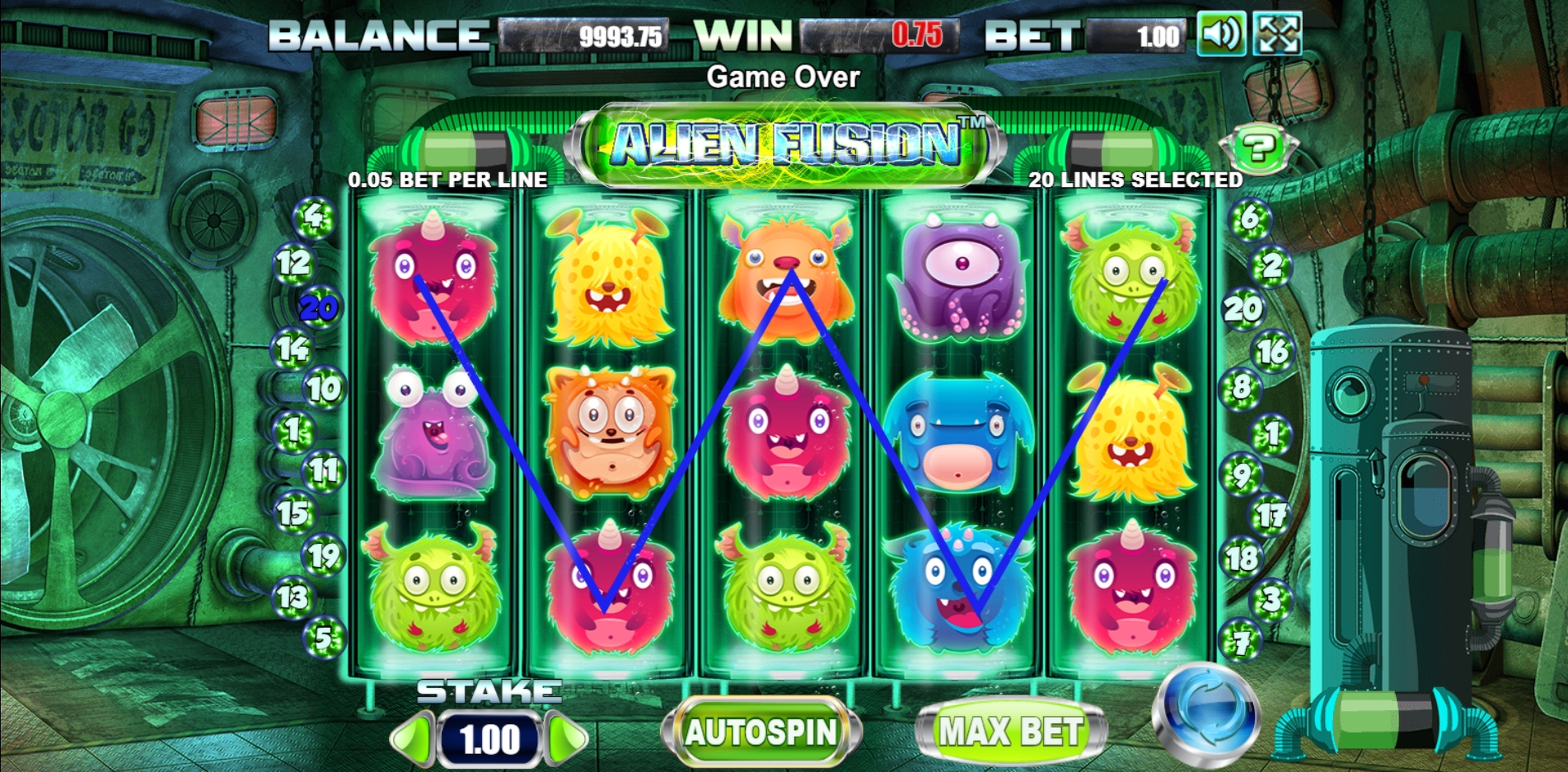 Win Money in Alien Fusion Free Slot Game by Allbet Gaming