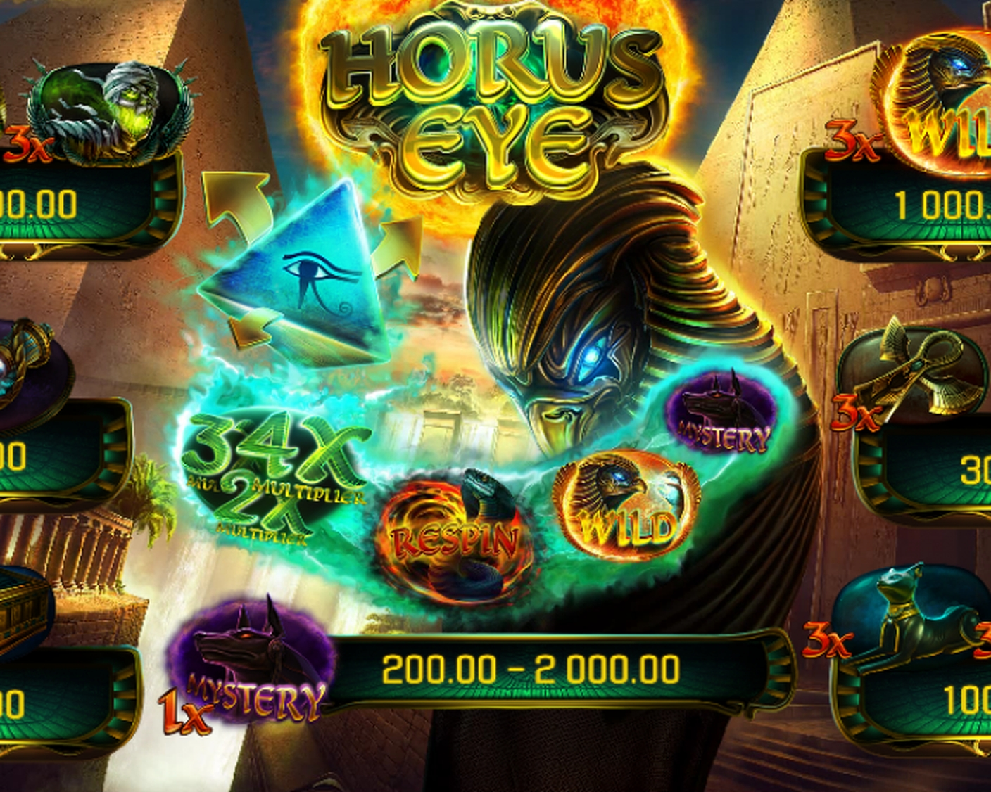 The Horus Eye (Apollo Games) Online Slot Demo Game by Apollo Games