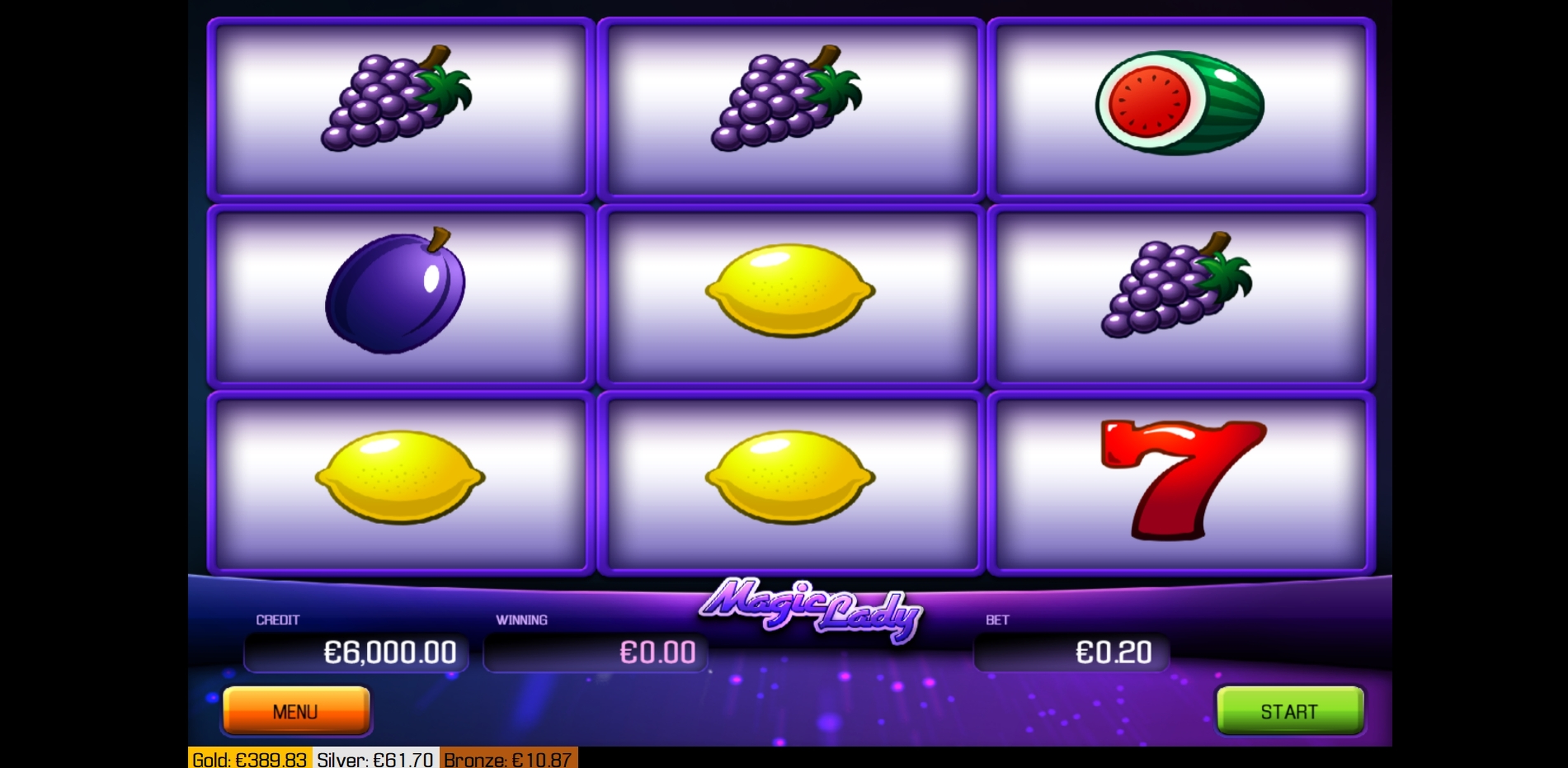Reels in Magic Lady Slot Game by Apollo Games