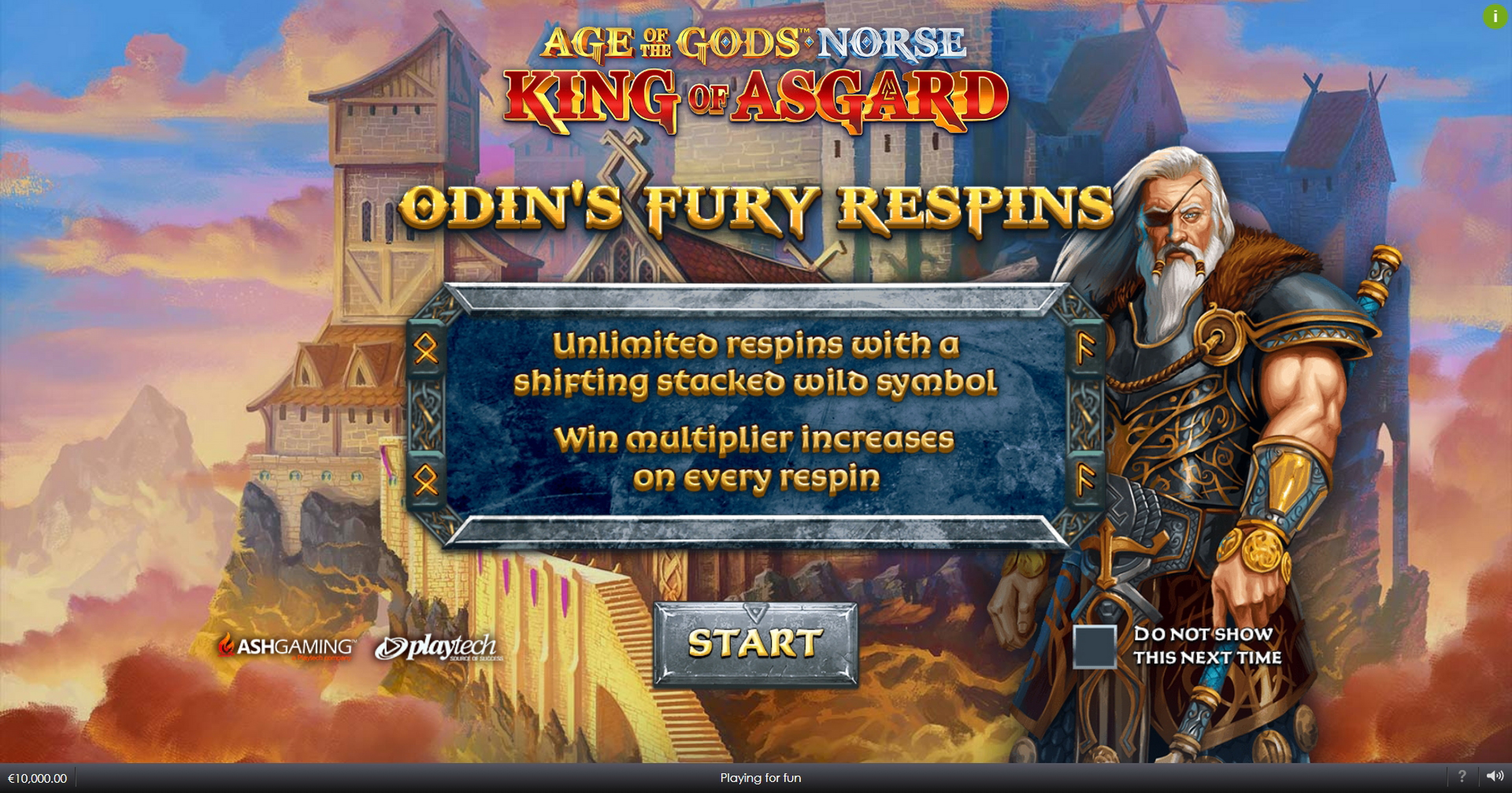 Play Age of the Gods Norse King of Asgard Free Casino Slot Game by Ash Gaming