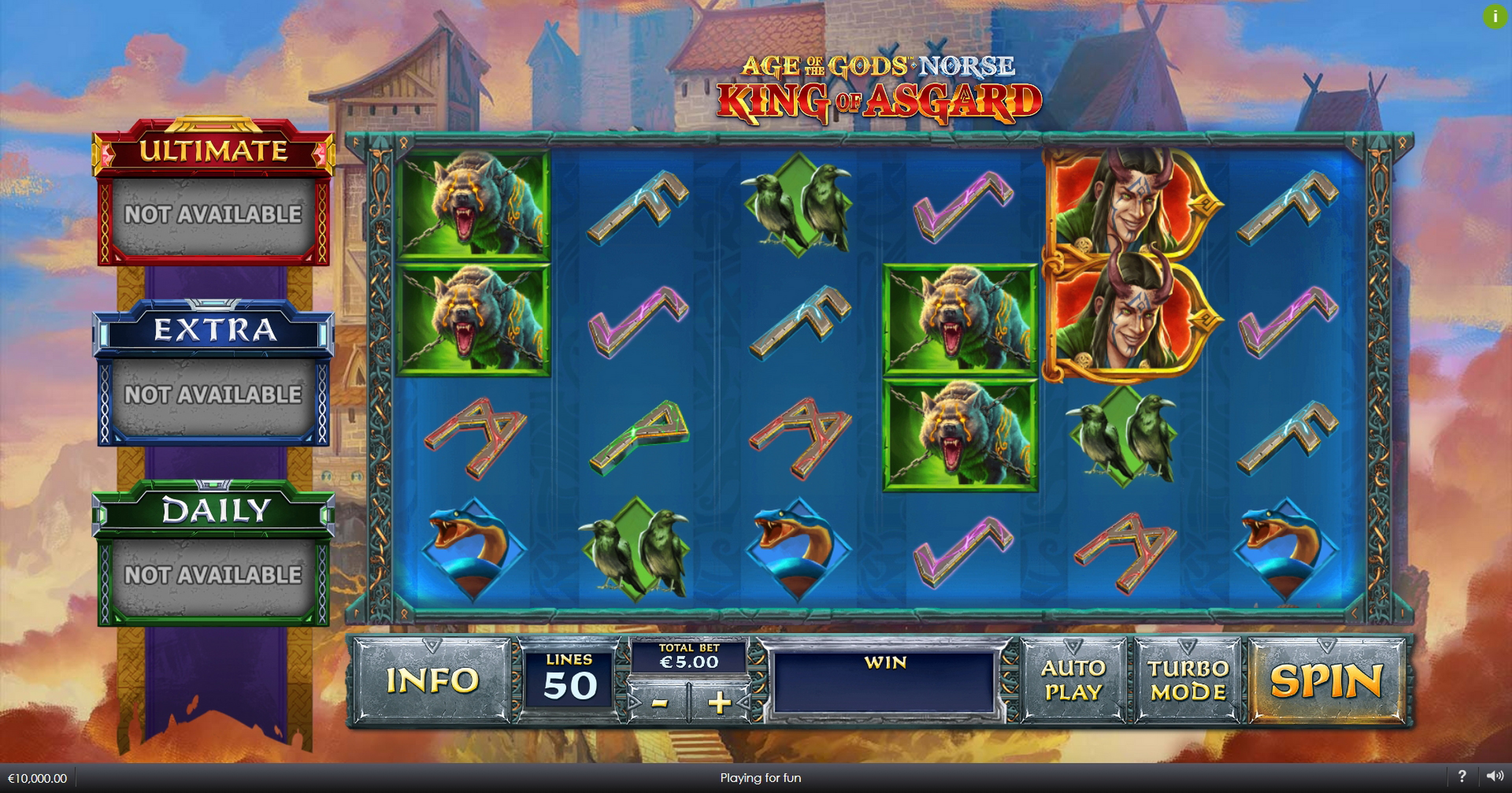 Reels in Age of the Gods Norse King of Asgard Slot Game by Ash Gaming