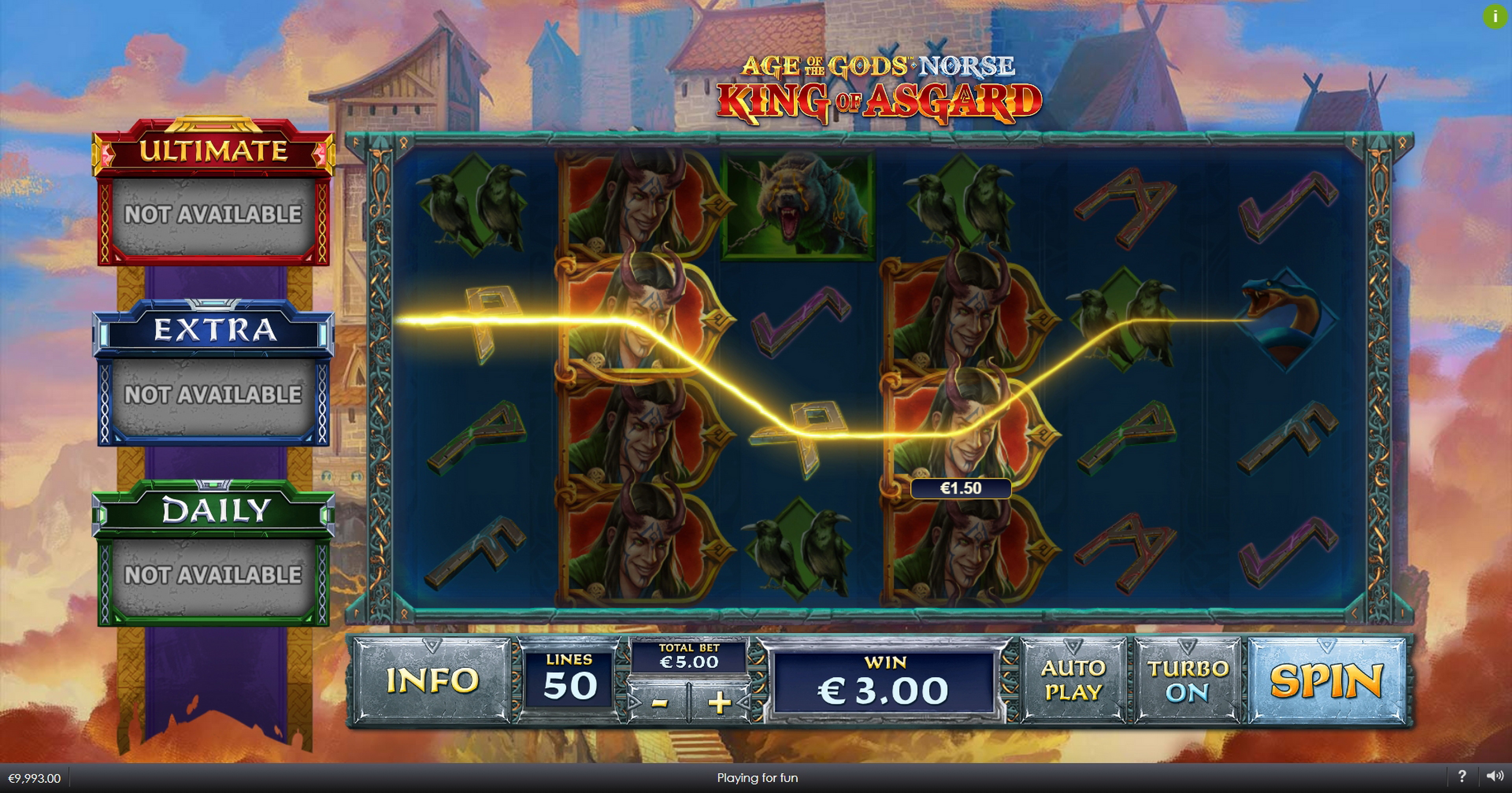 Win Money in Age of the Gods Norse King of Asgard Free Slot Game by Ash Gaming