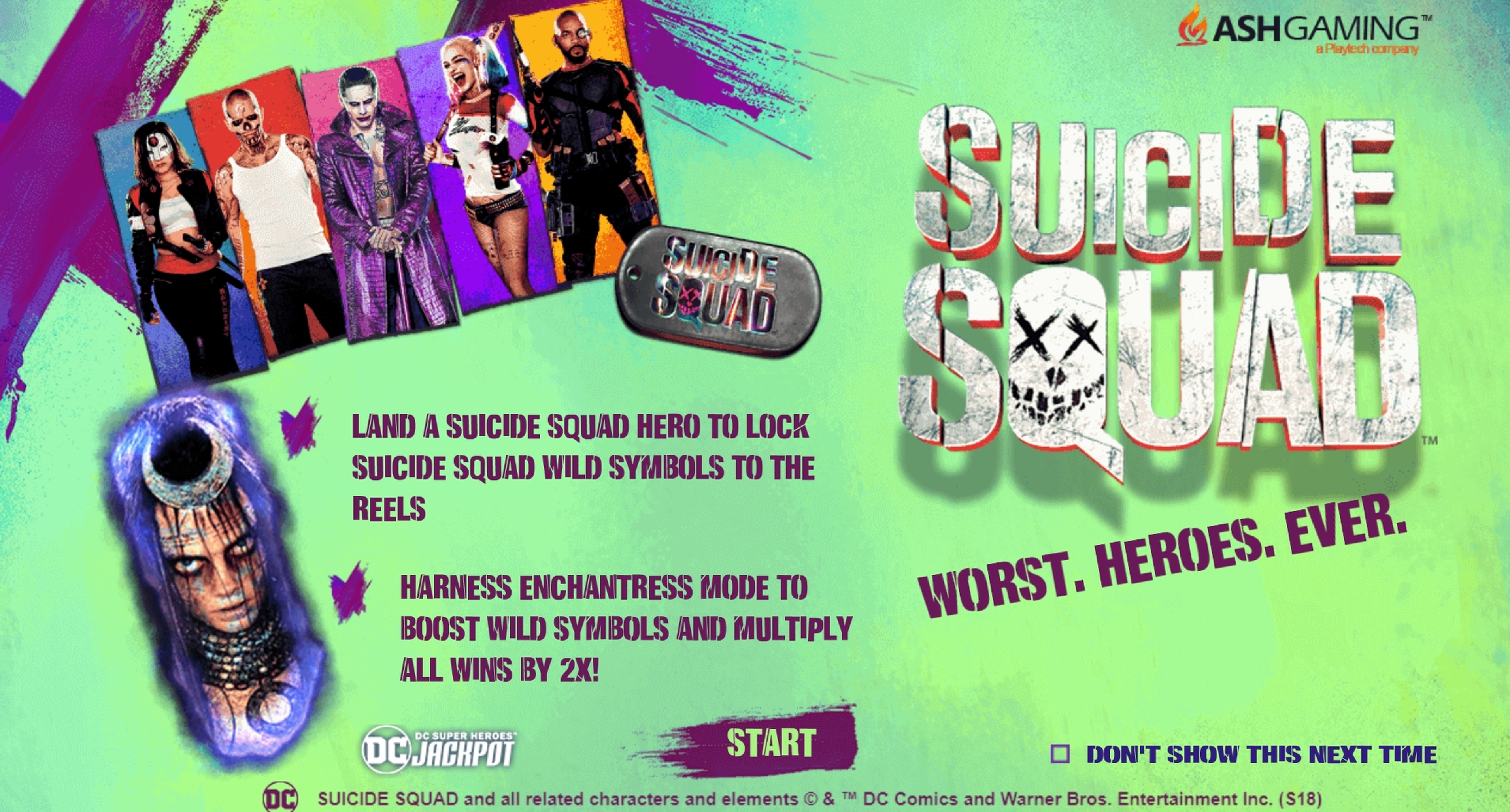 Play Suicide Squad Free Casino Slot Game by Ash Gaming