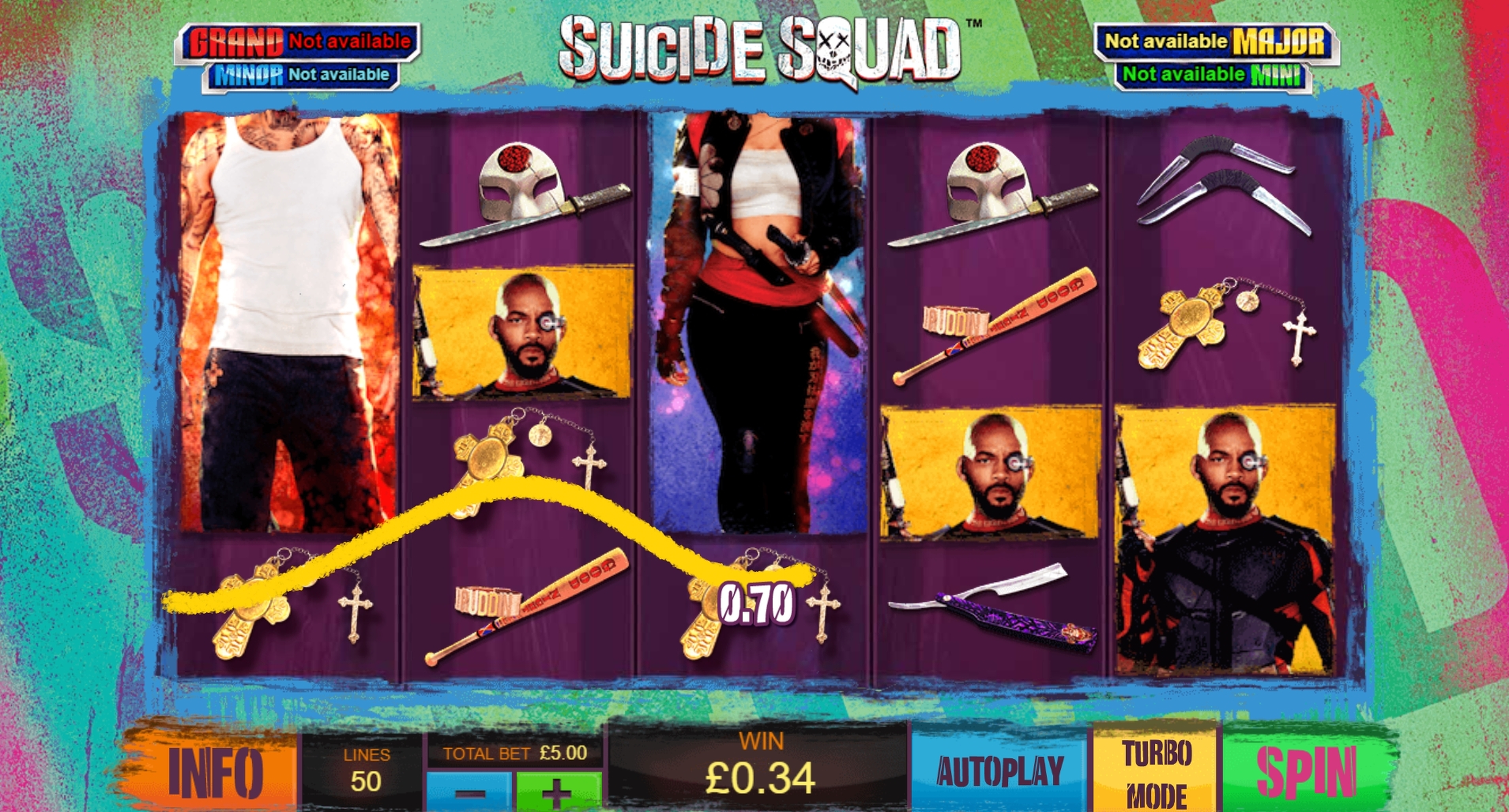 Win Money in Suicide Squad Free Slot Game by Ash Gaming
