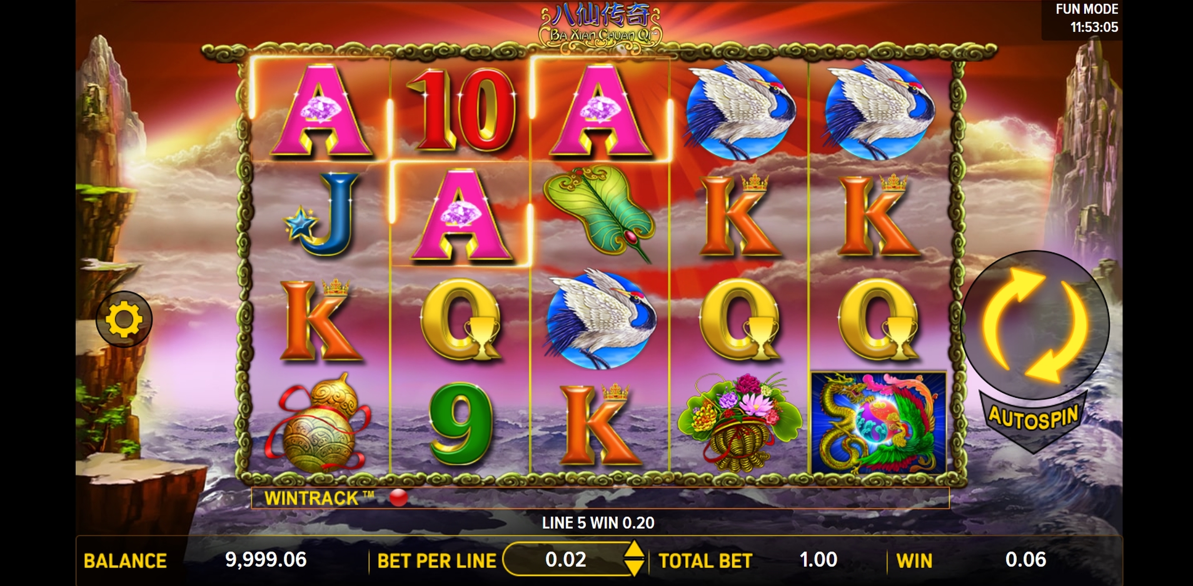 Win Money in Ba Xian Chuan Qi Free Slot Game by Aspect Gaming