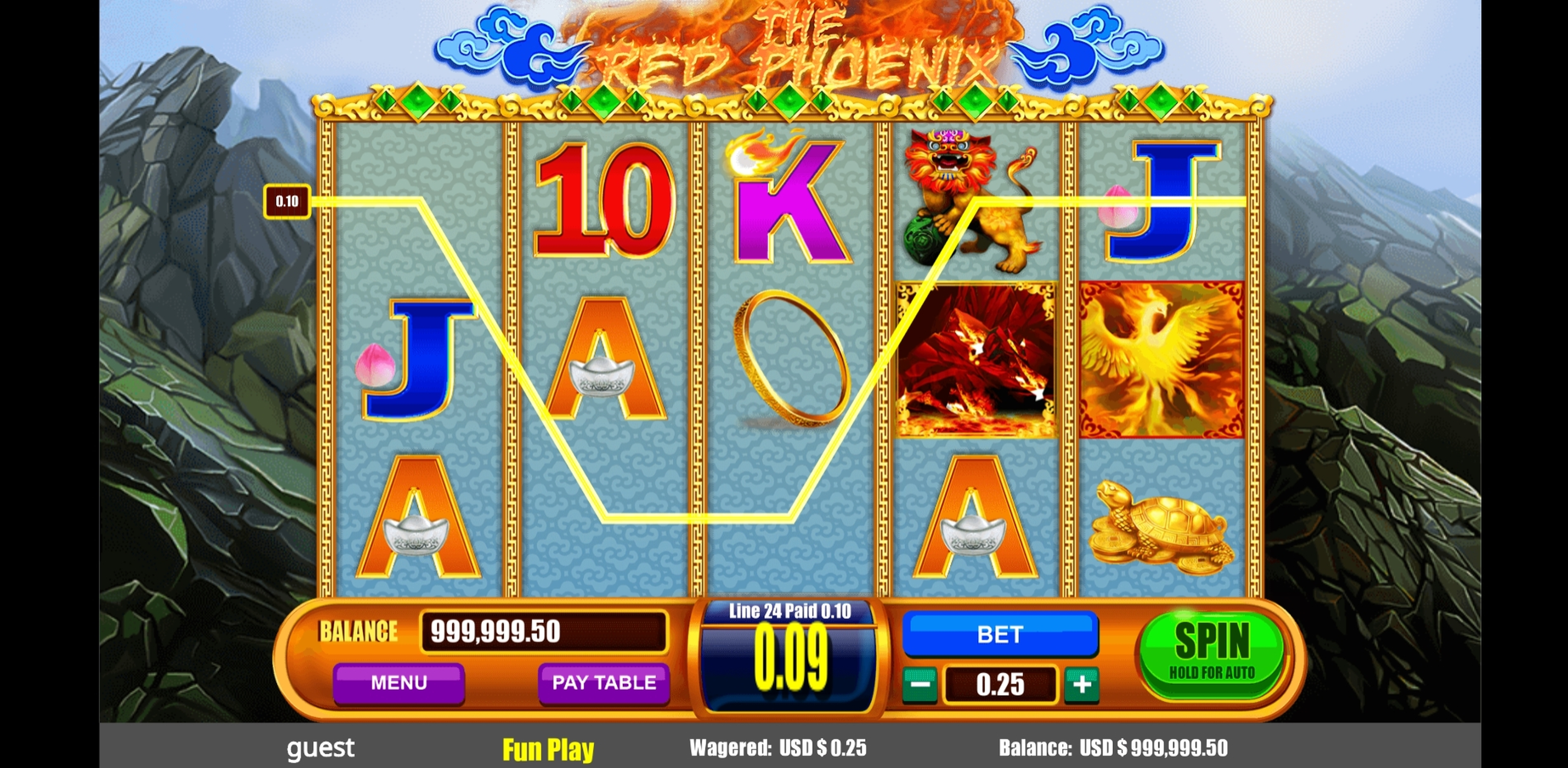 Win Money in The Red Phoenix Free Slot Game by August Gaming