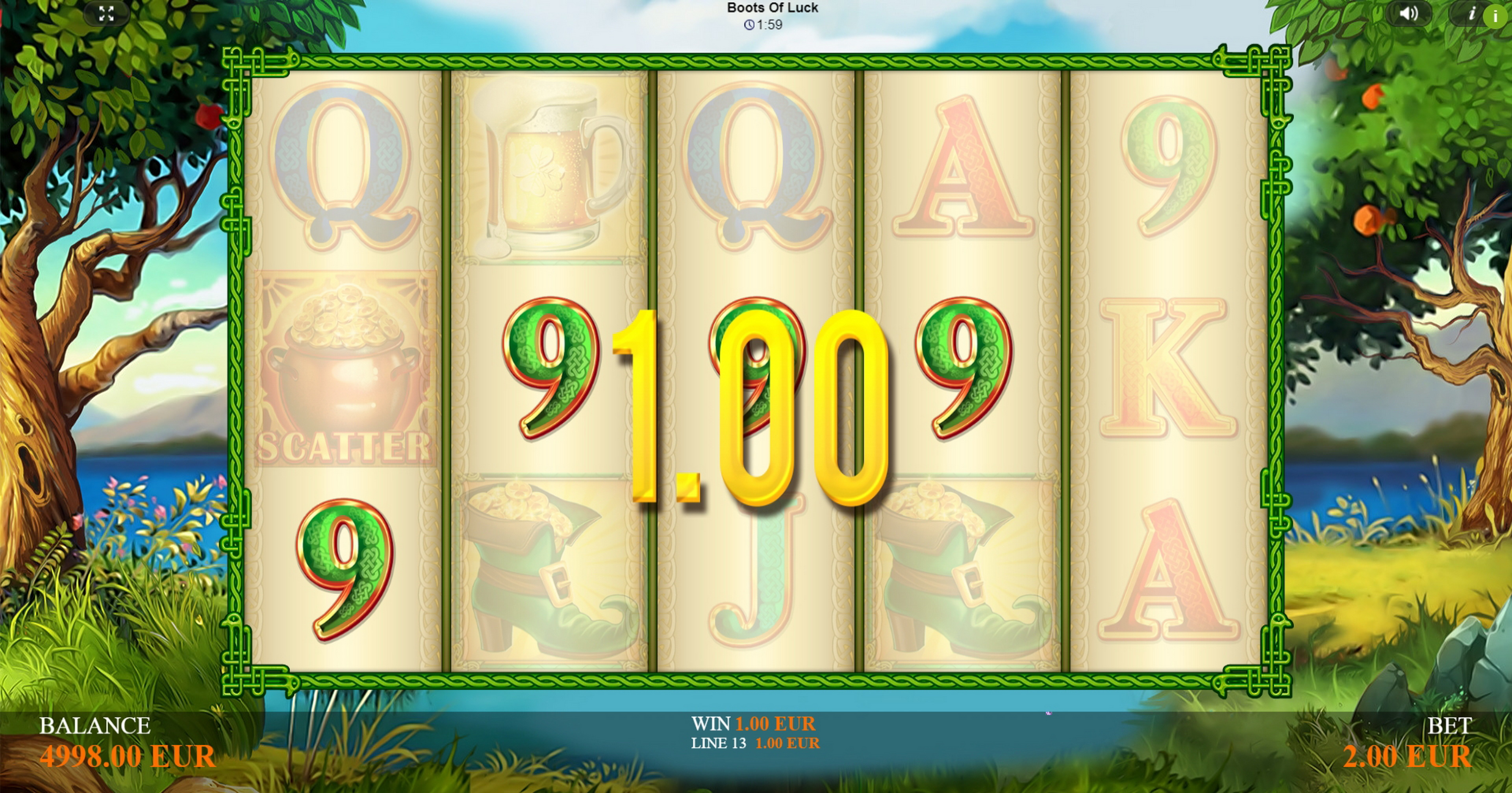 Win Money in Boots Of Luck Free Slot Game by betiXon