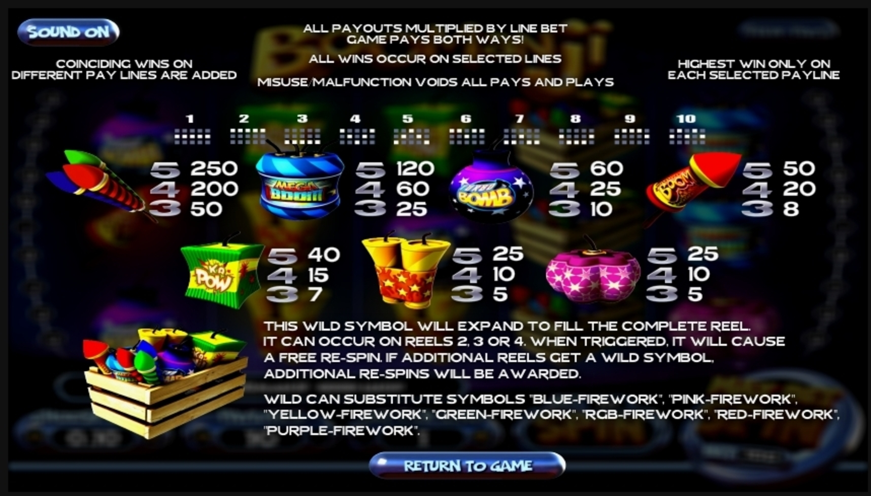 Info of Boomanji Slot Game by Betsoft