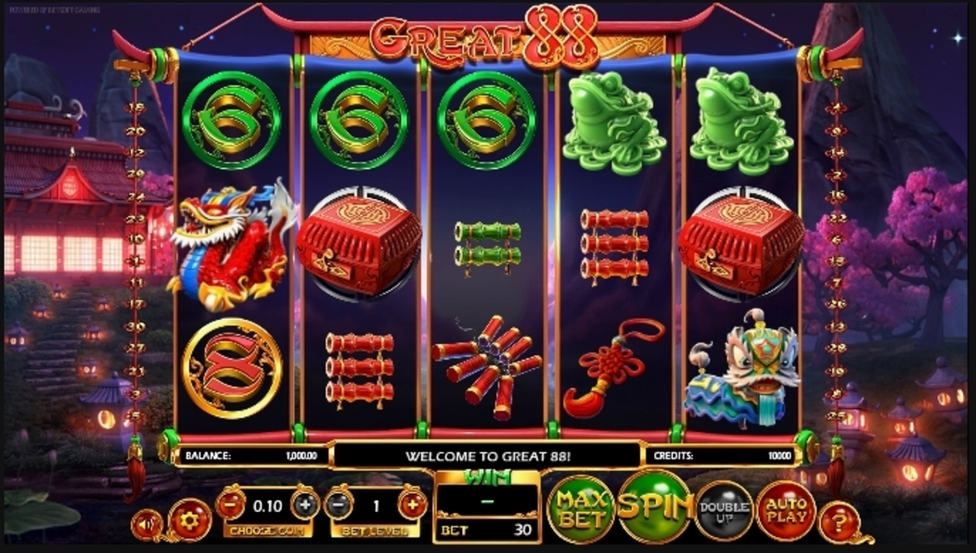 Reels in Great 88 Slot Game by Betsoft