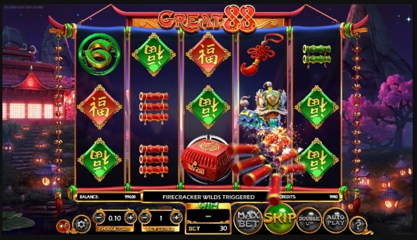 Win Money in Great 88 Free Slot Game by Betsoft