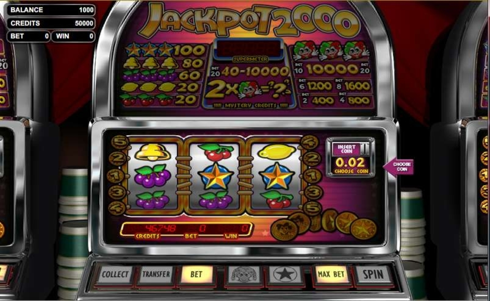 The Jackpot 2000 Online Slot Demo Game by Betsoft