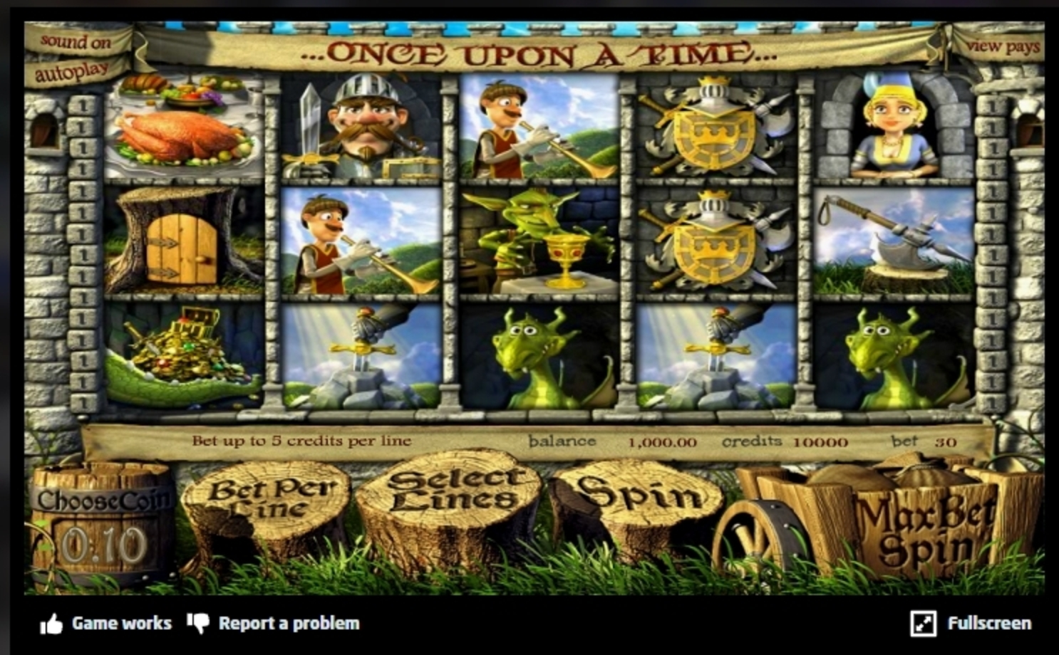 Reels in Once Upon a Time (Betsoft) Slot Game by Betsoft