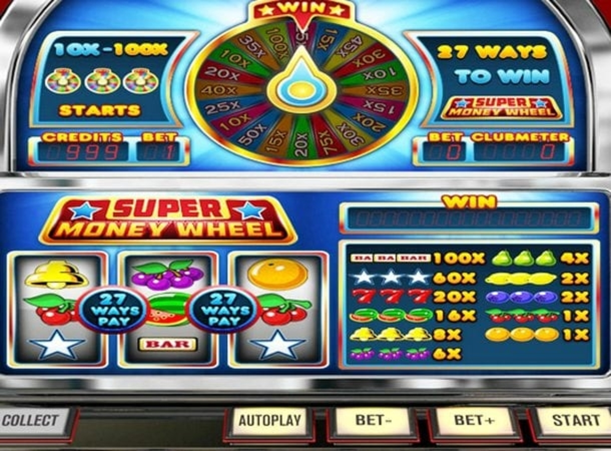 Reels in Super Money Wheel Slot Game by Betsoft