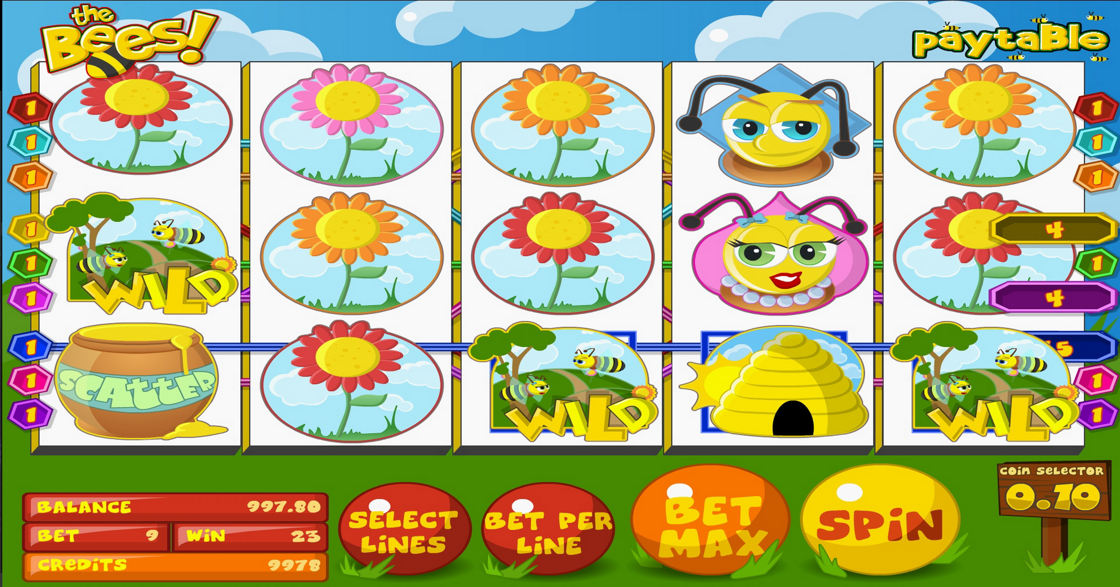 Win Money in The Bees Free Slot Game by Betsoft