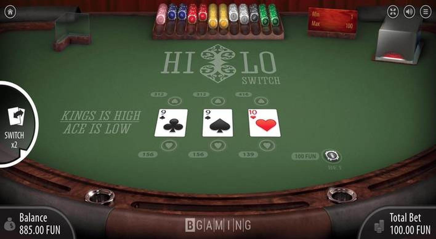 The Hi Lo Switch Online Slot Demo Game by BGAMING