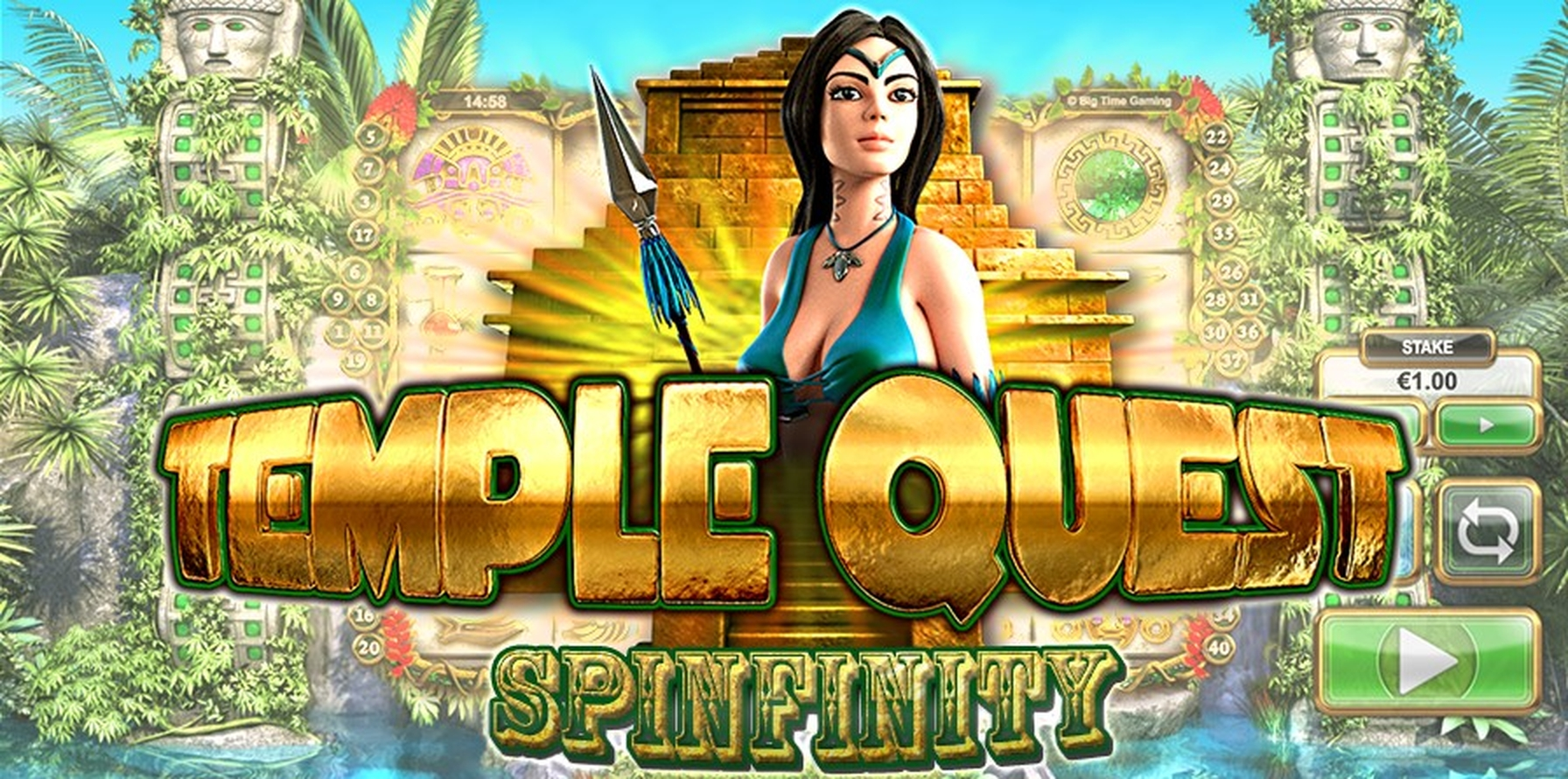 The Temple Quest Spinfinity Online Slot Demo Game by Big Time Gaming