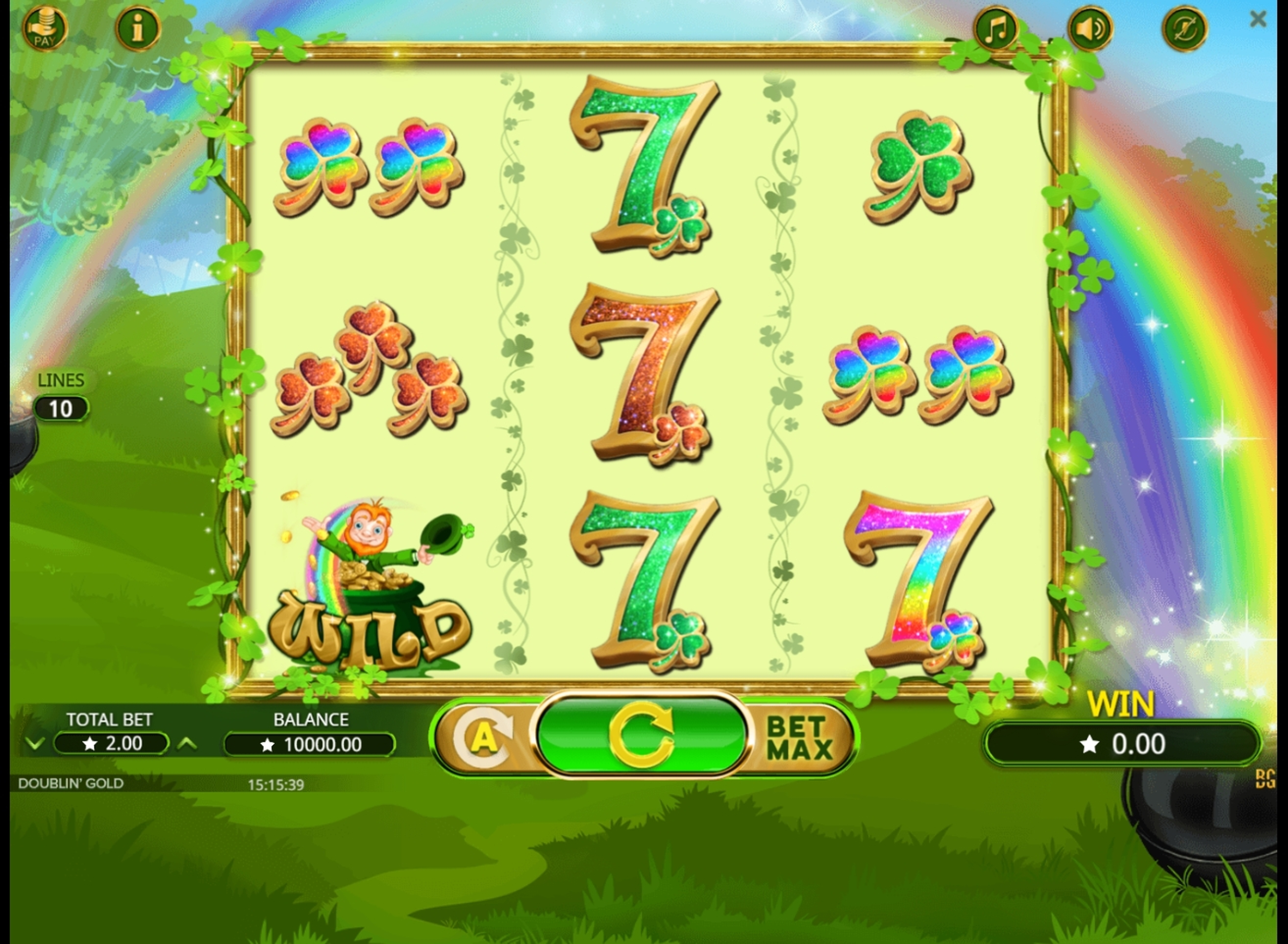 Reels in Doublin Gold Slot Game by Booming Games
