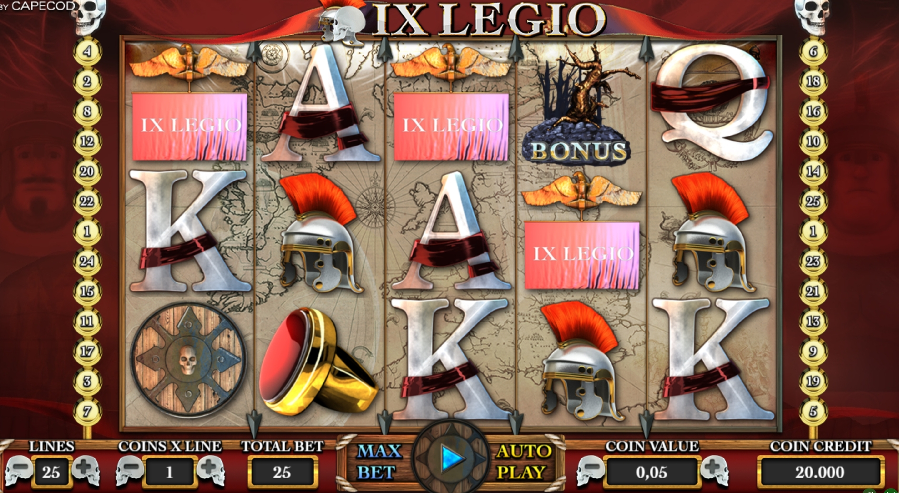 Reels in IX Legio Slot Game by Capecod Gaming