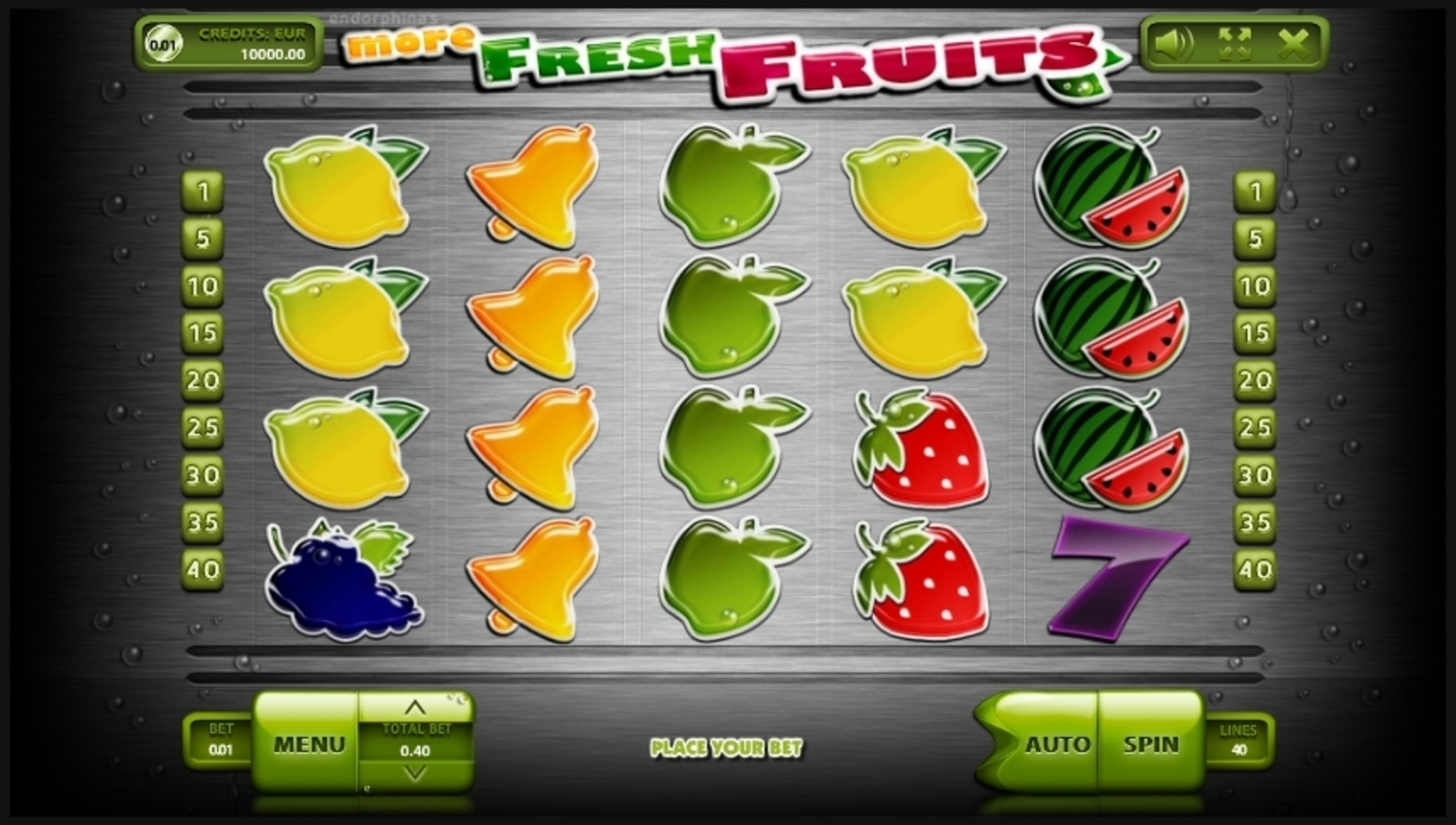 Reels in More Fresh Fruits Slot Game by Endorphina