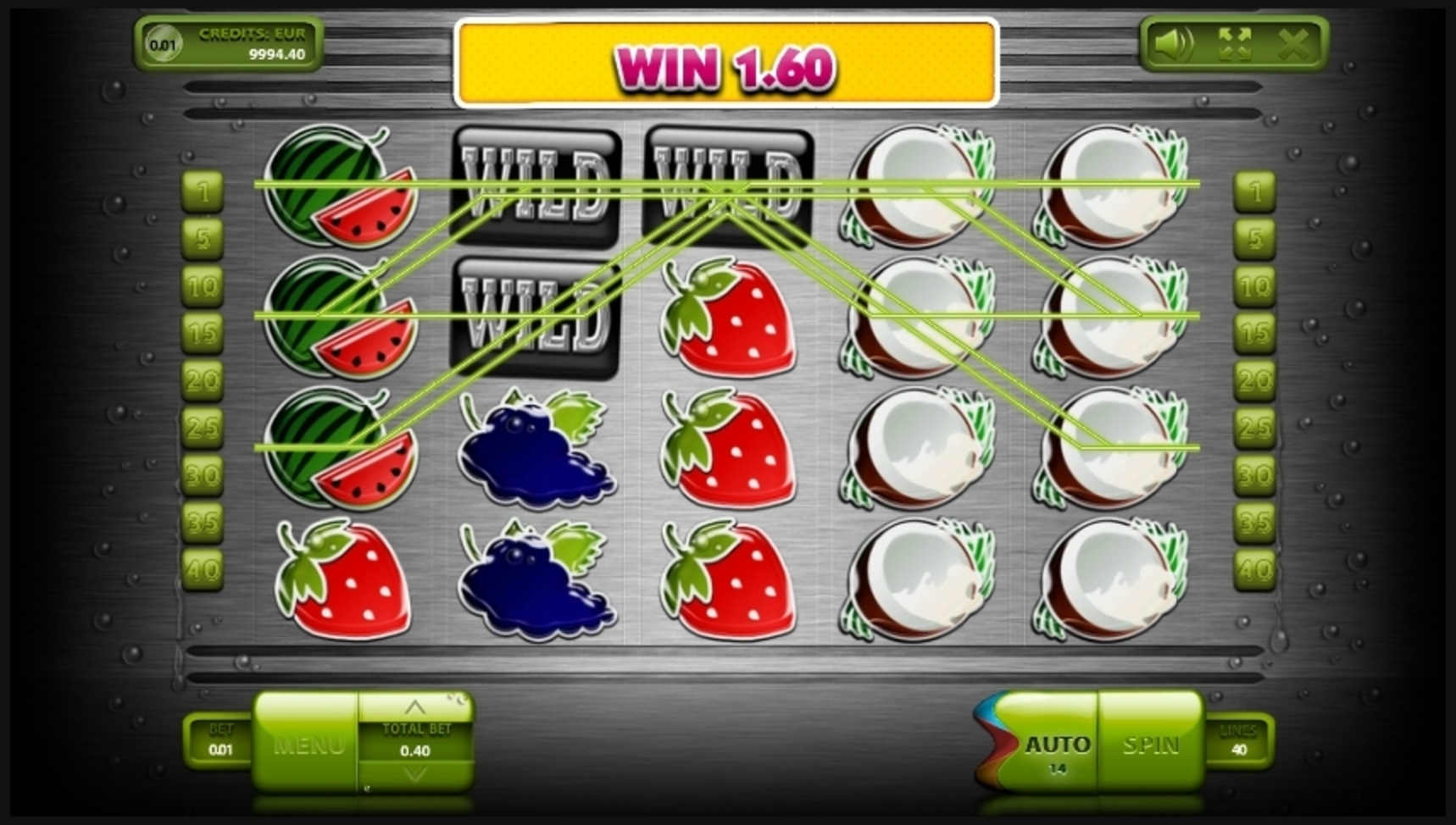 Win Money in More Fresh Fruits Free Slot Game by Endorphina