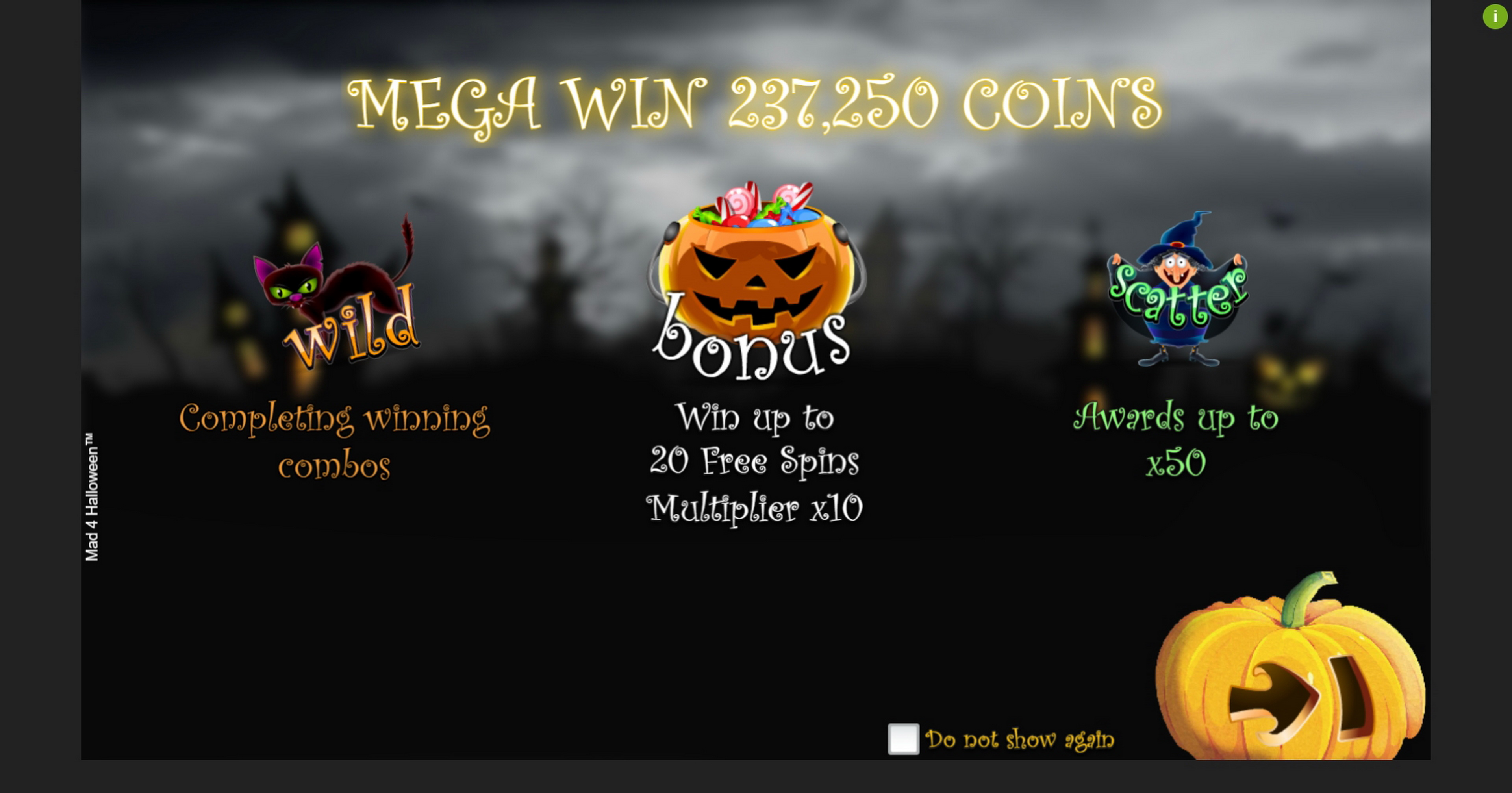 Play Mad 4 Halloween Free Casino Slot Game by Espresso Games