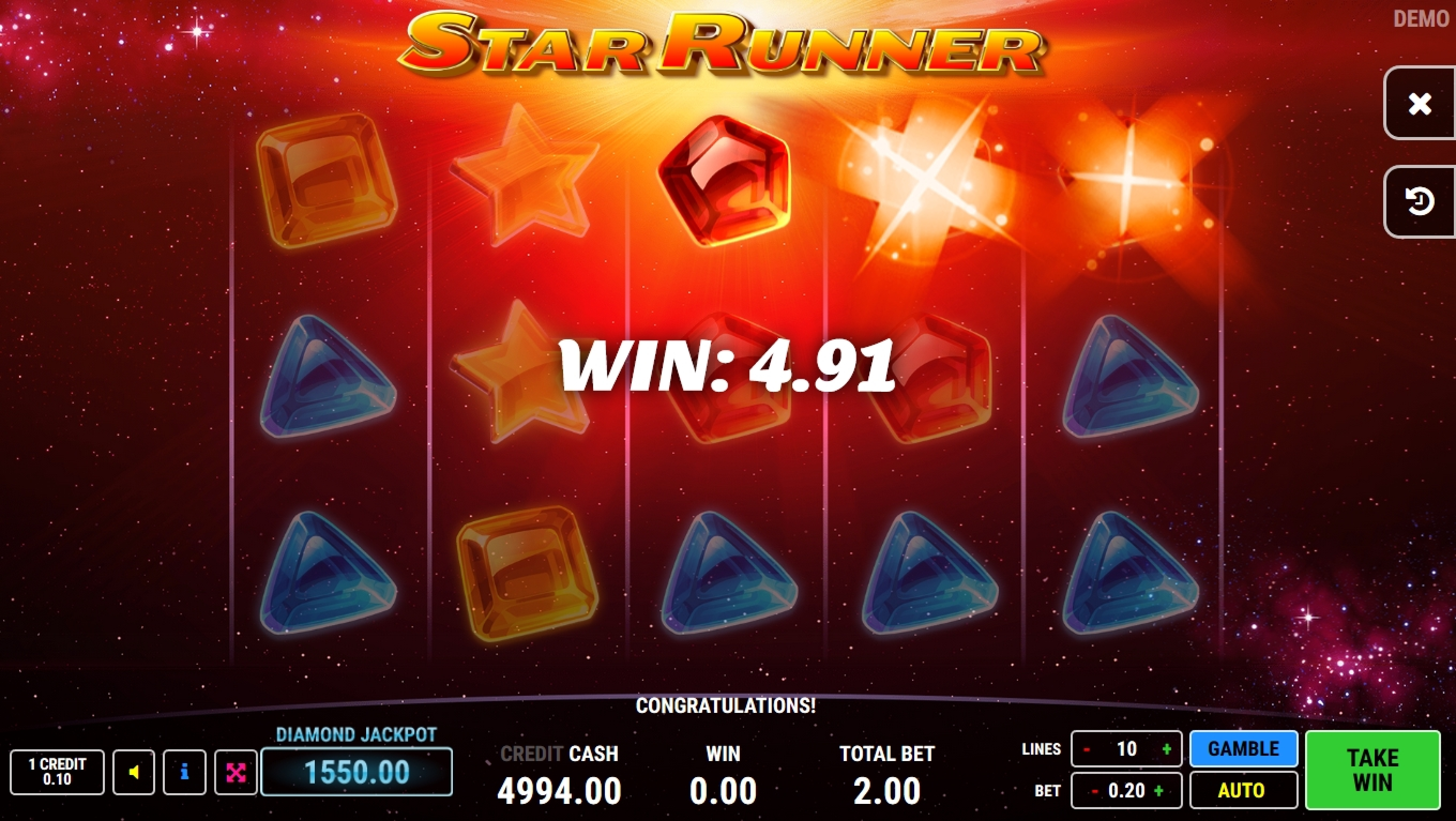 Win Money in Star Runner Free Slot Game by Fazi Gaming