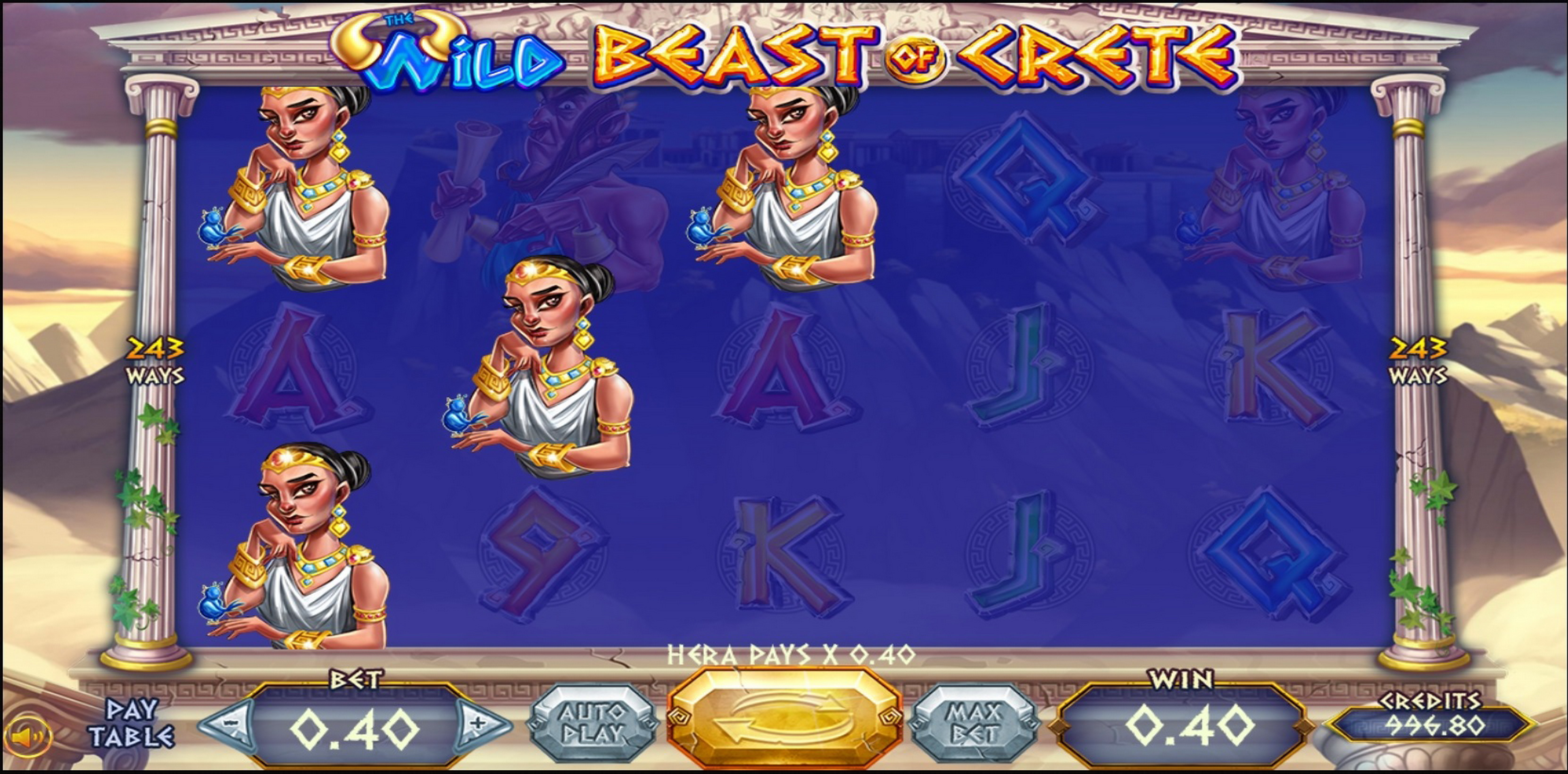 Win Money in Wild Beast of Crete Free Slot Game by Felix Gaming
