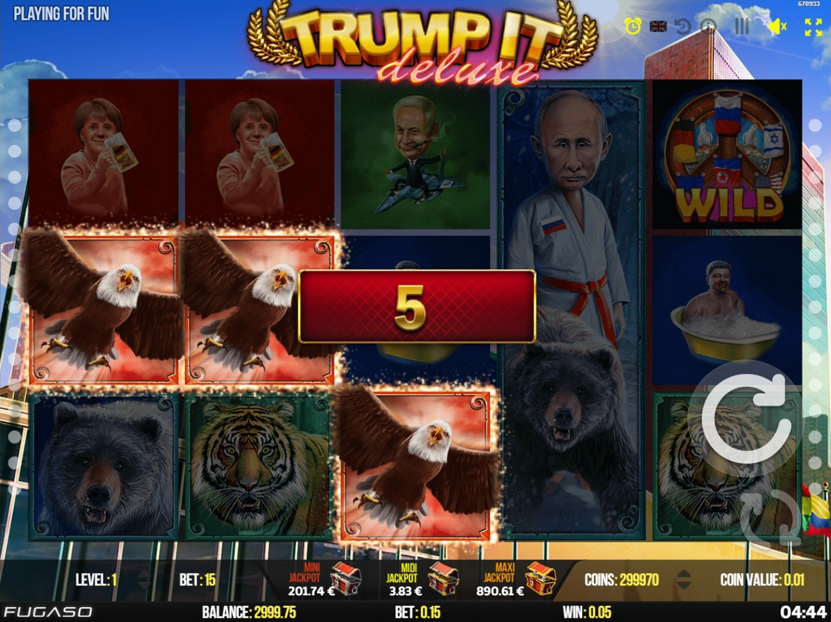 Win Money in Trump It Deluxe Free Slot Game by Fugaso