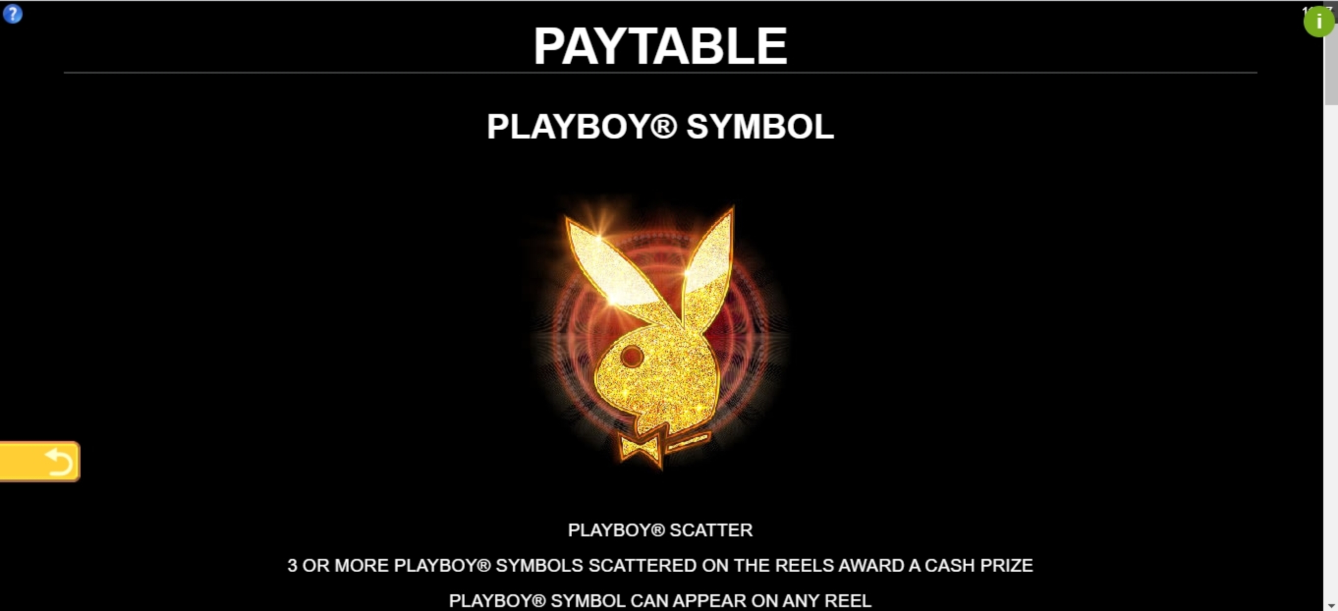 Info of Playboy Fortunes Slot Game by Gameburger Studios