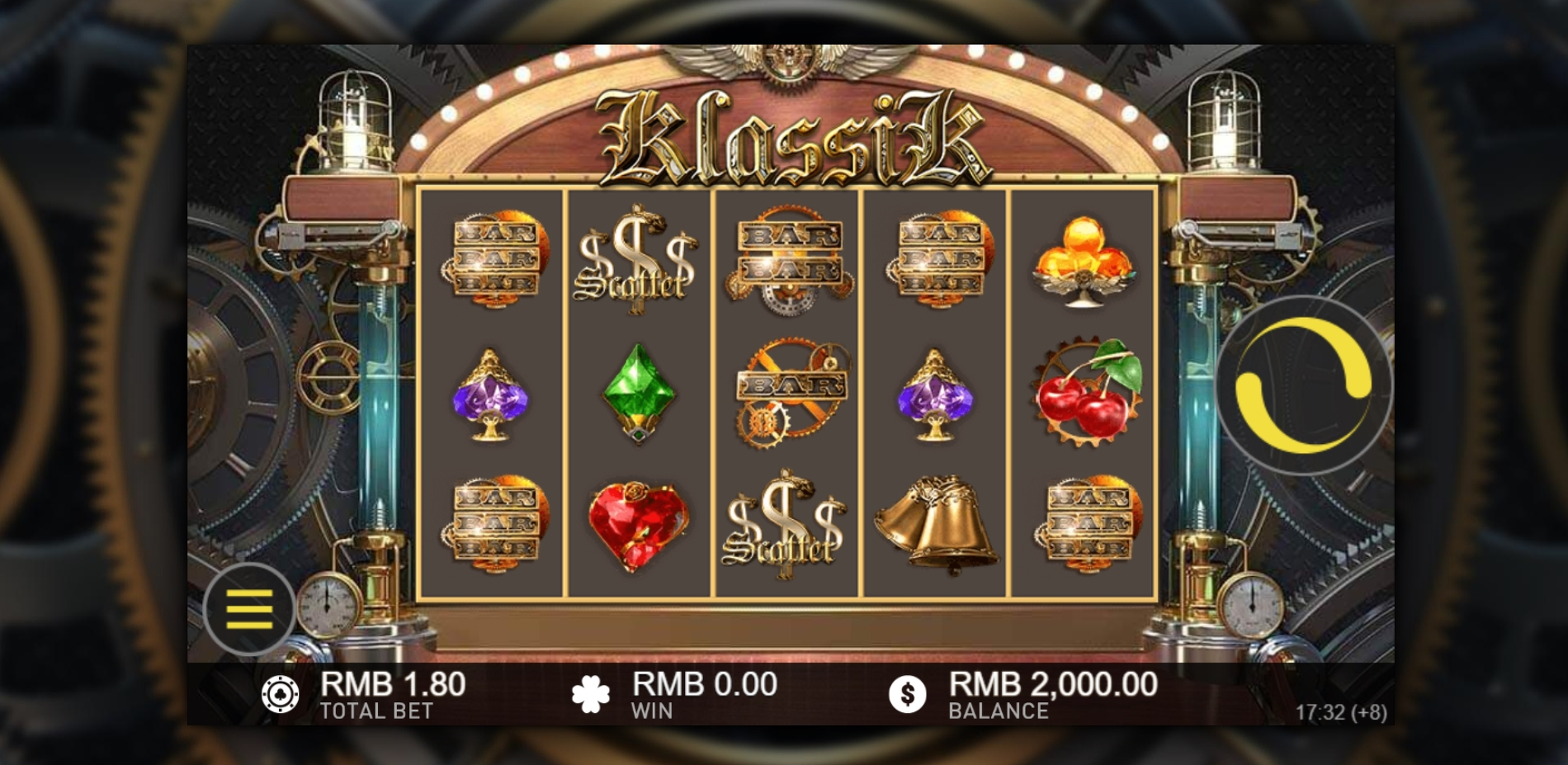 Reels in Klassik Slot Game by Gameplay Interactive