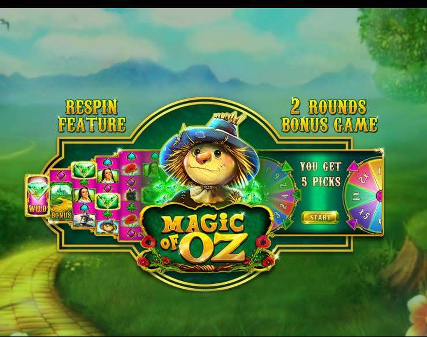 The Magic of Oz Online Slot Demo Game by GamesOSCTXM