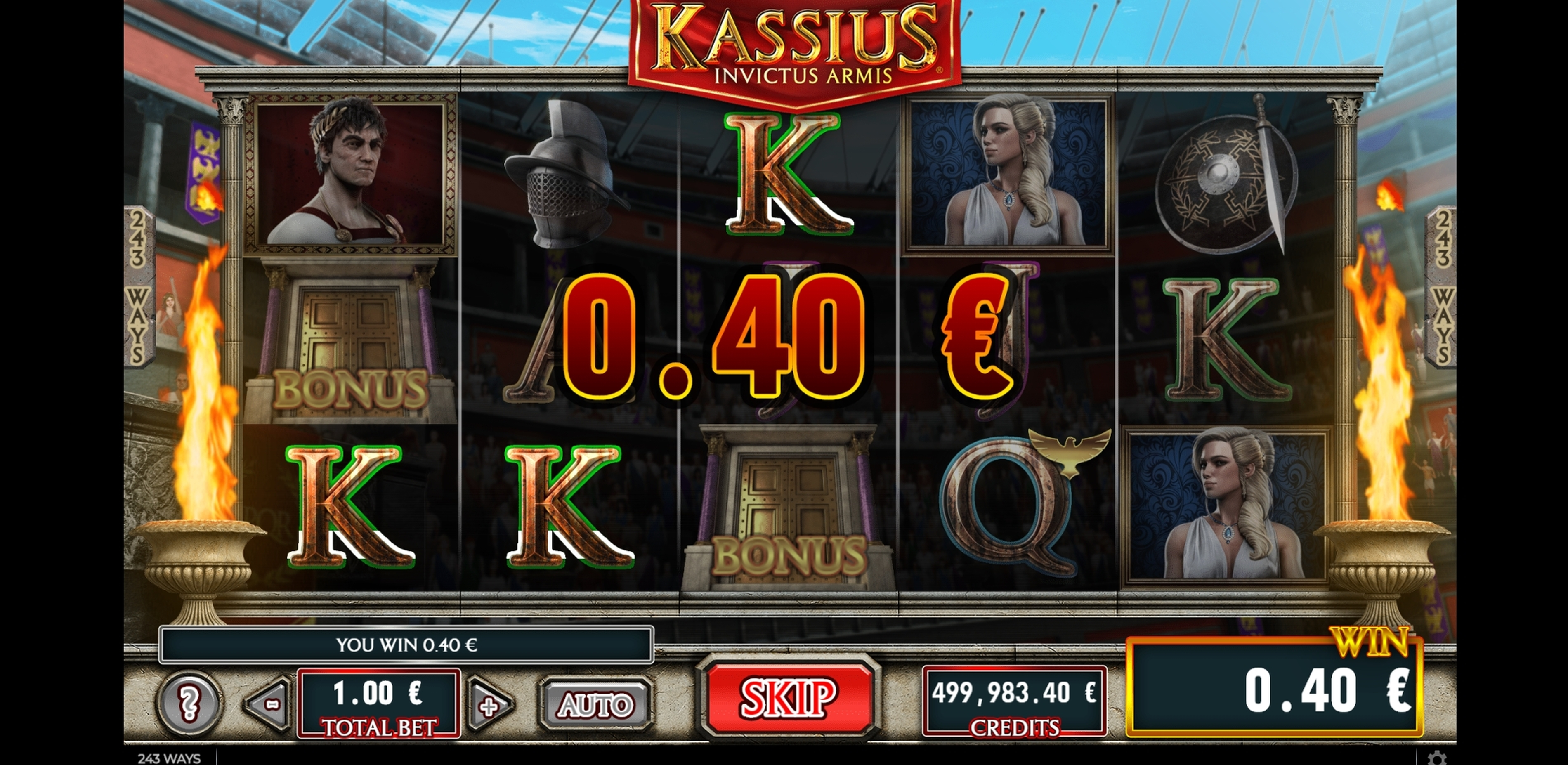 Win Money in Kassius Invictus Armis Free Slot Game by GAMING1