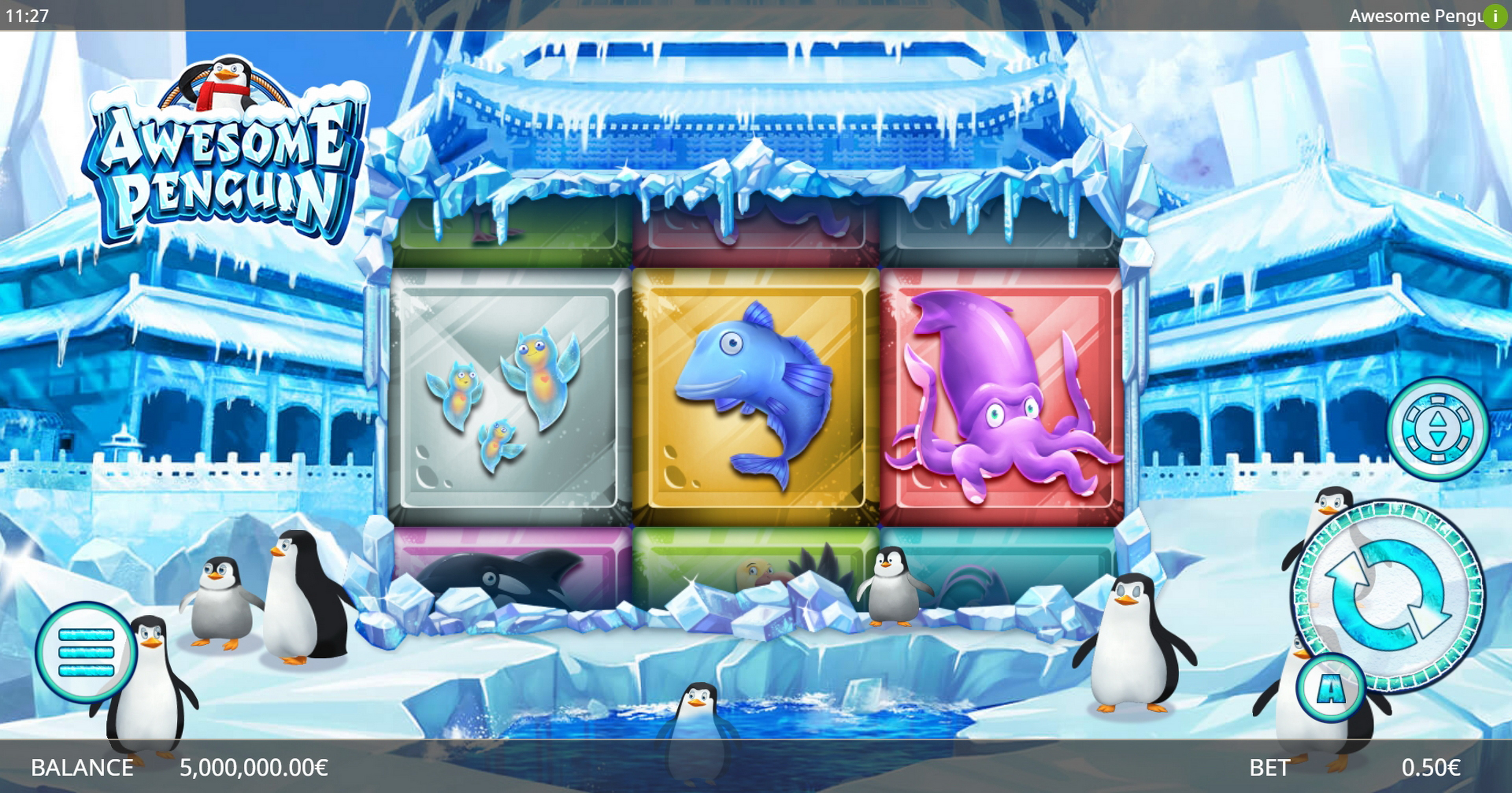 Reels in Awesome Penguin Slot Game by Ganapati